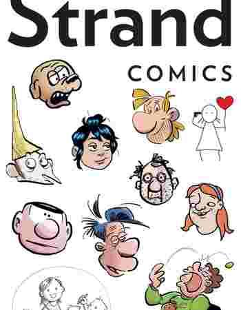 Logo og illustrasjoner fra Strand Comics