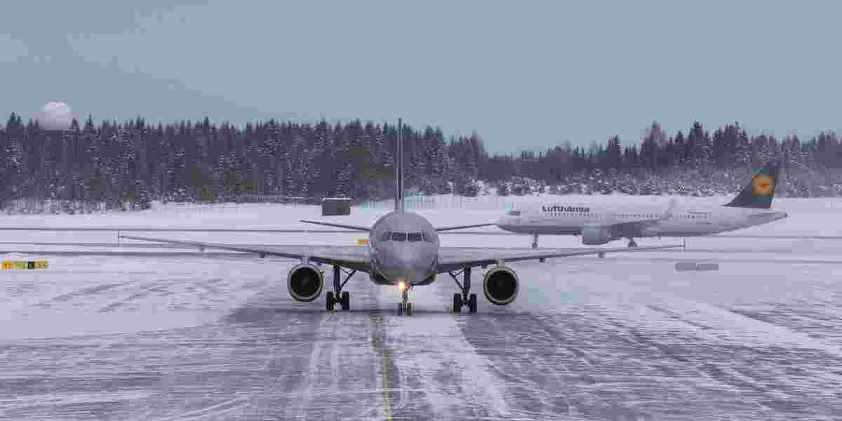 Fly på vinterføre, Gardermoen flyplass