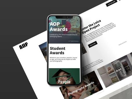 AOP Awards web design