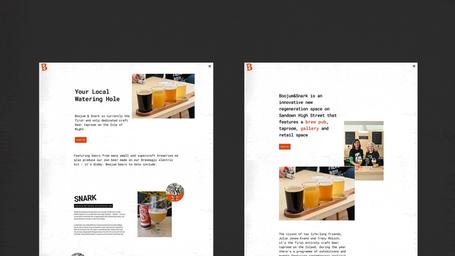 Boojum & Snark web design