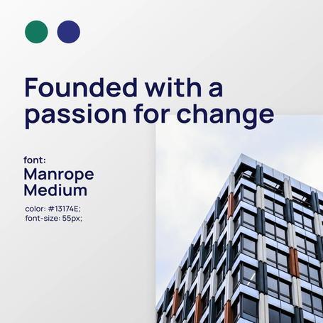 Manrope branding