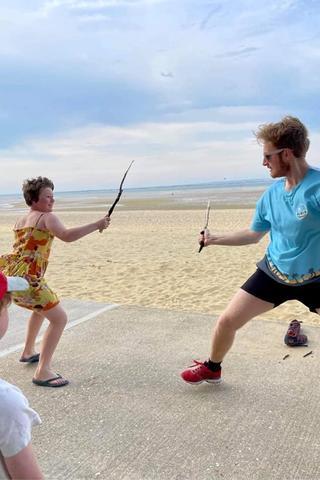 Matt fights a child