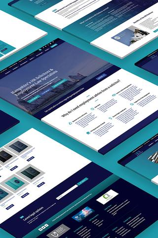 real employment law web design