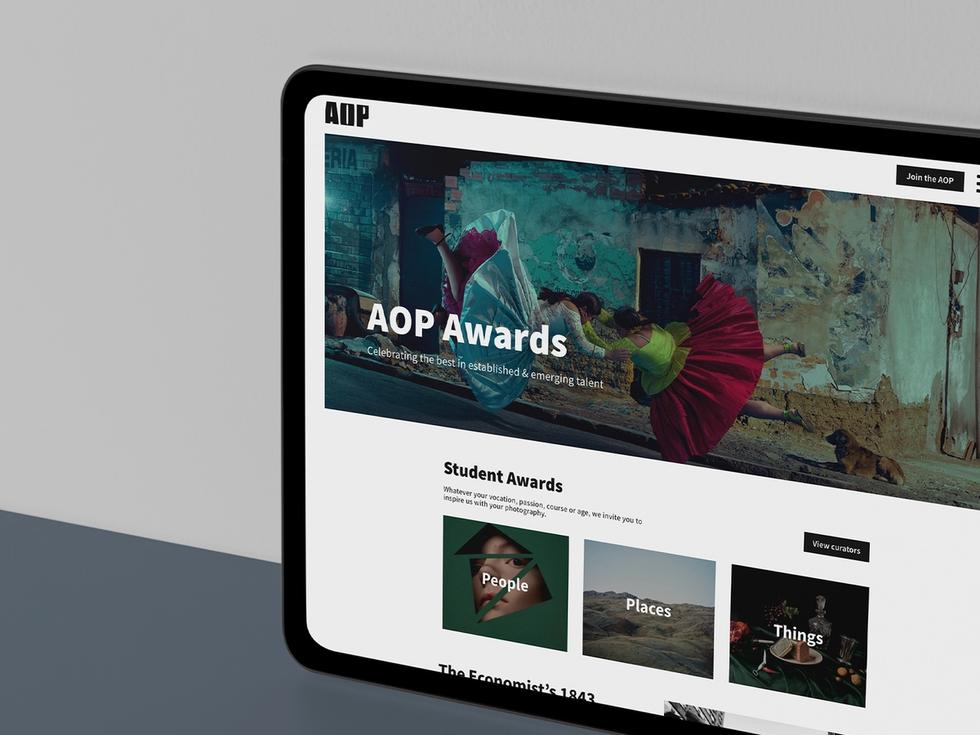 aop awards website development