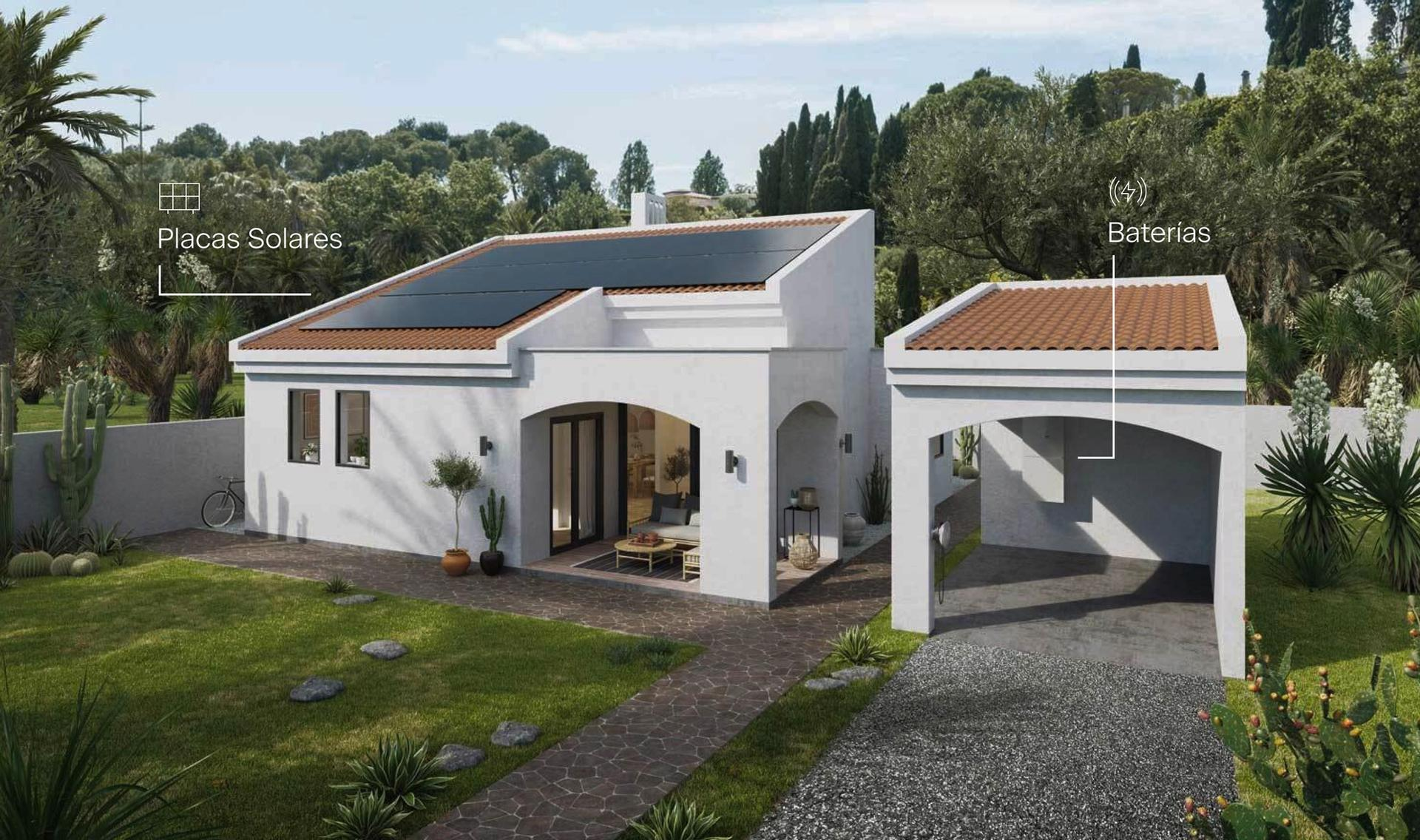 Spanish house with Svea Solar's products