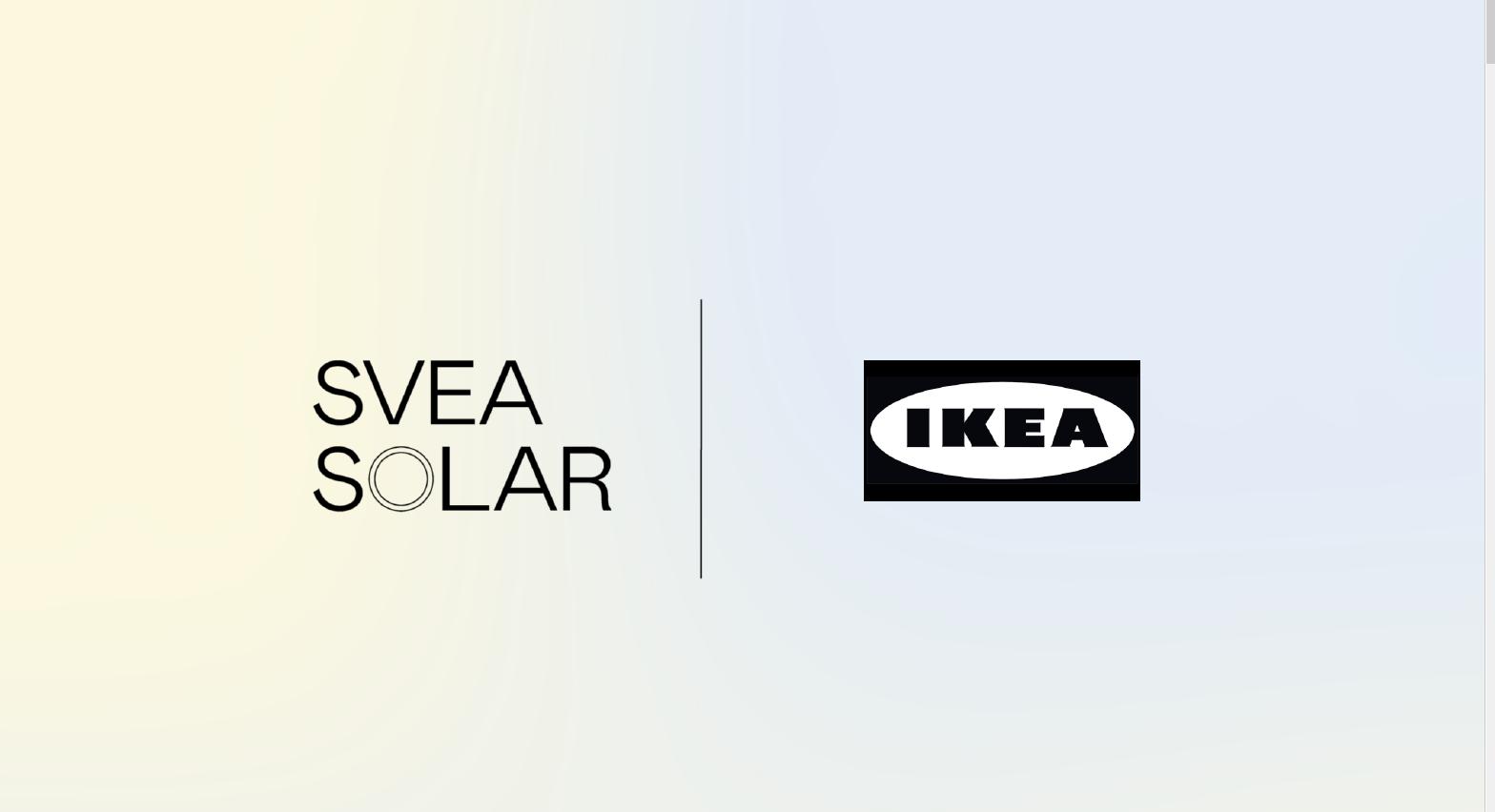 Kooperation Svea Solar x IKEA