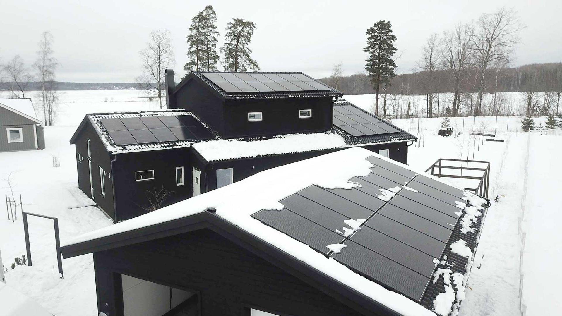solceller vinter