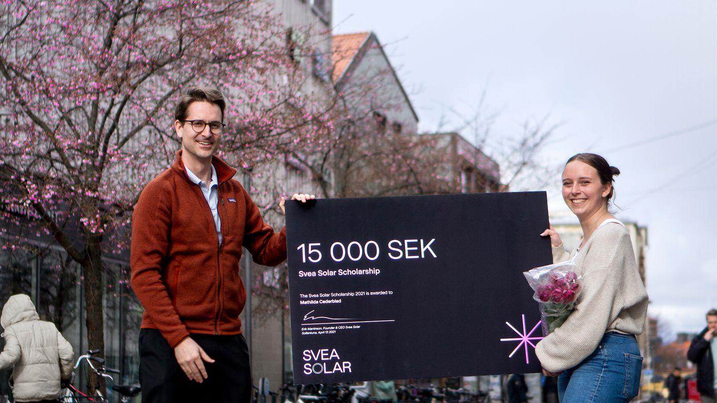 Solar Scholarship Grönt Stipendium Hållbarhet Student