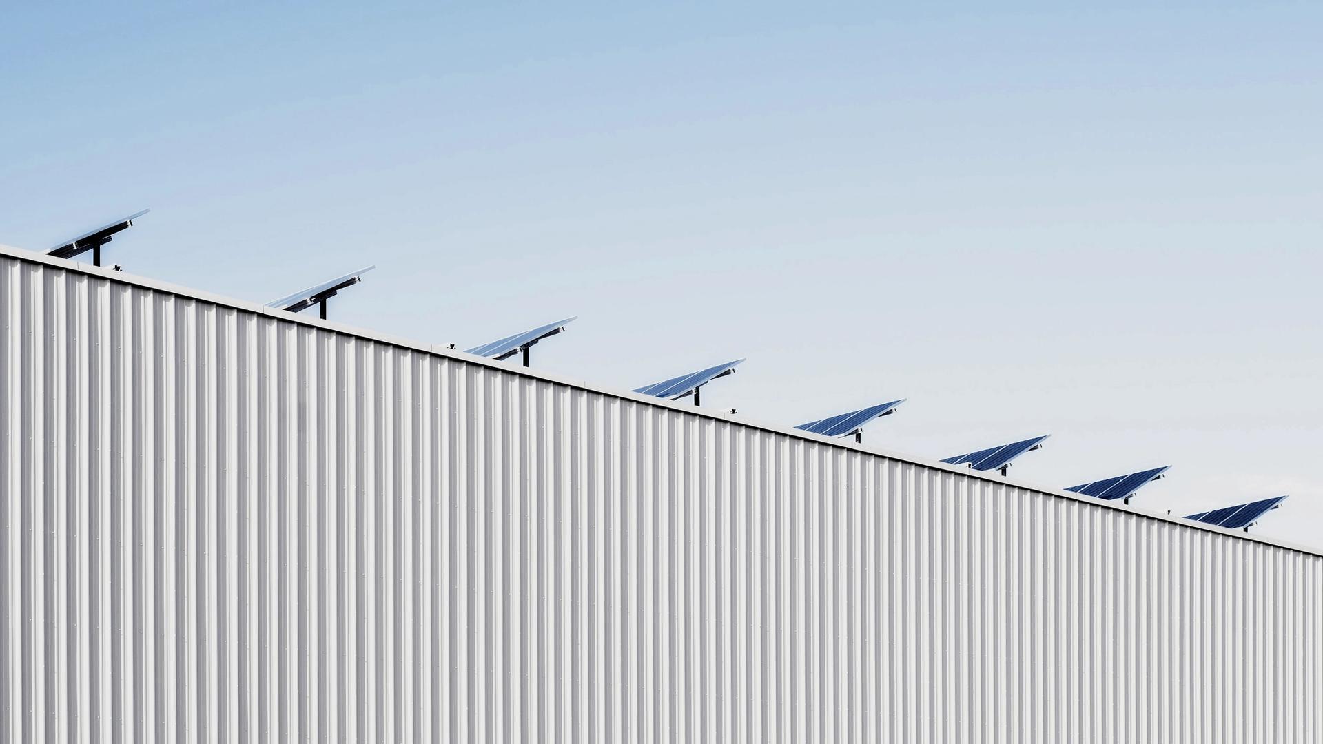 Solar Panels on roof B2B