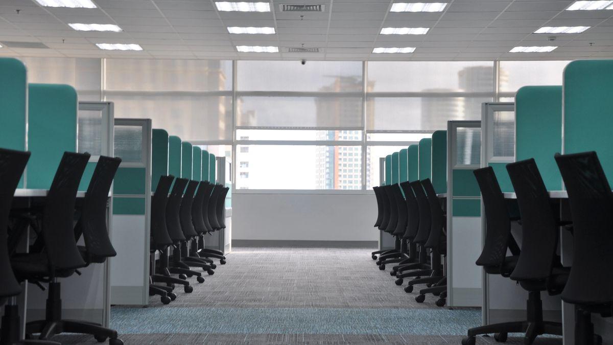 An empty open office plan