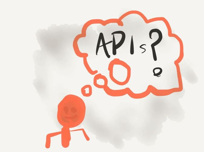 A person thinking about APIs