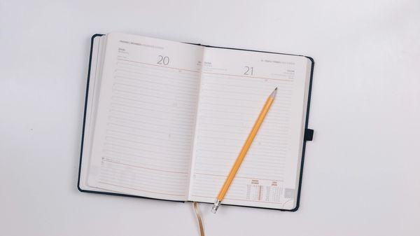An empty calendar.