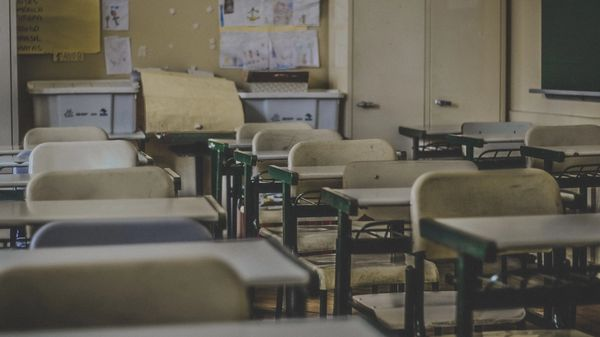 An empty classroom in Brazil