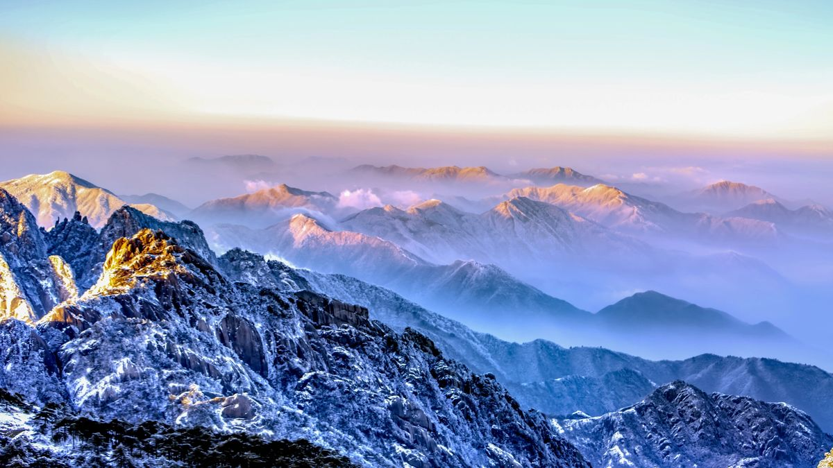 A picturesque view of the Himalayas, I think