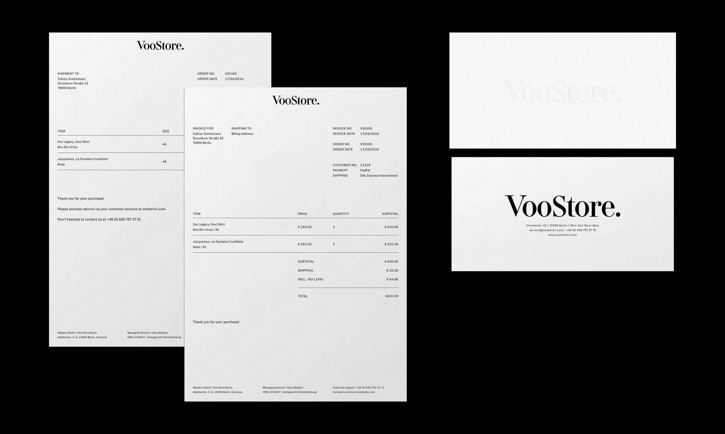 VooStore Stationery