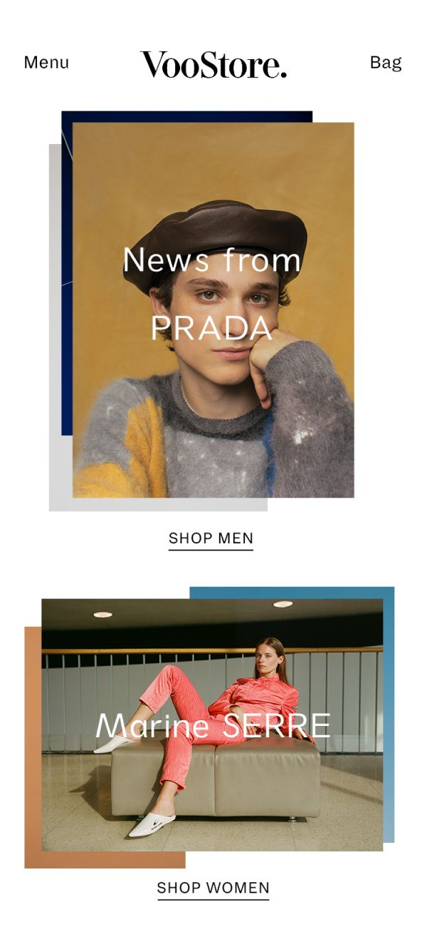 VooStore Mobile Frontpage
