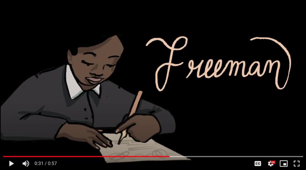 Image from a multimedia video presentation of Elizabeth Freeman