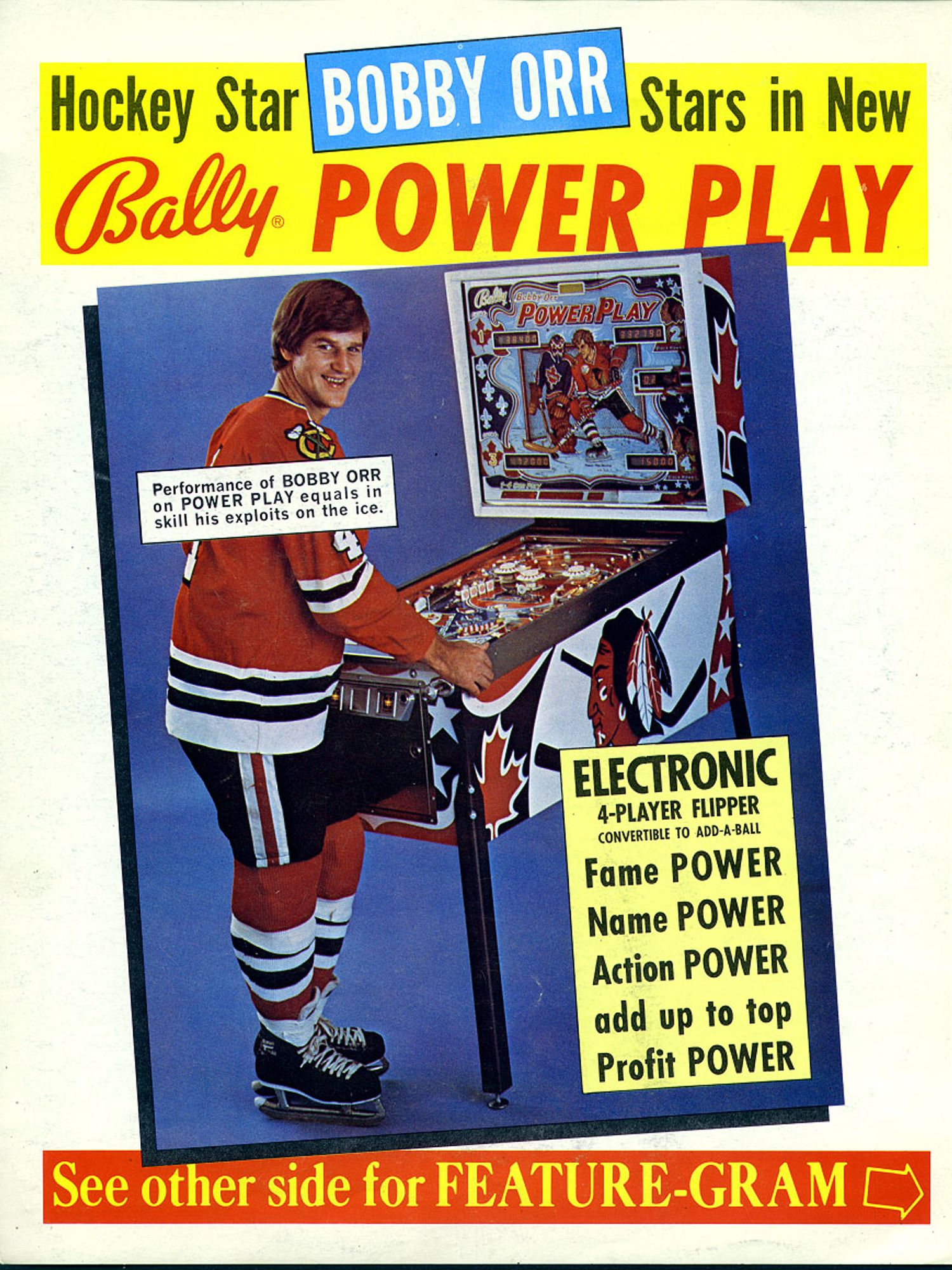 Bobby Orr Power Play Flyer front