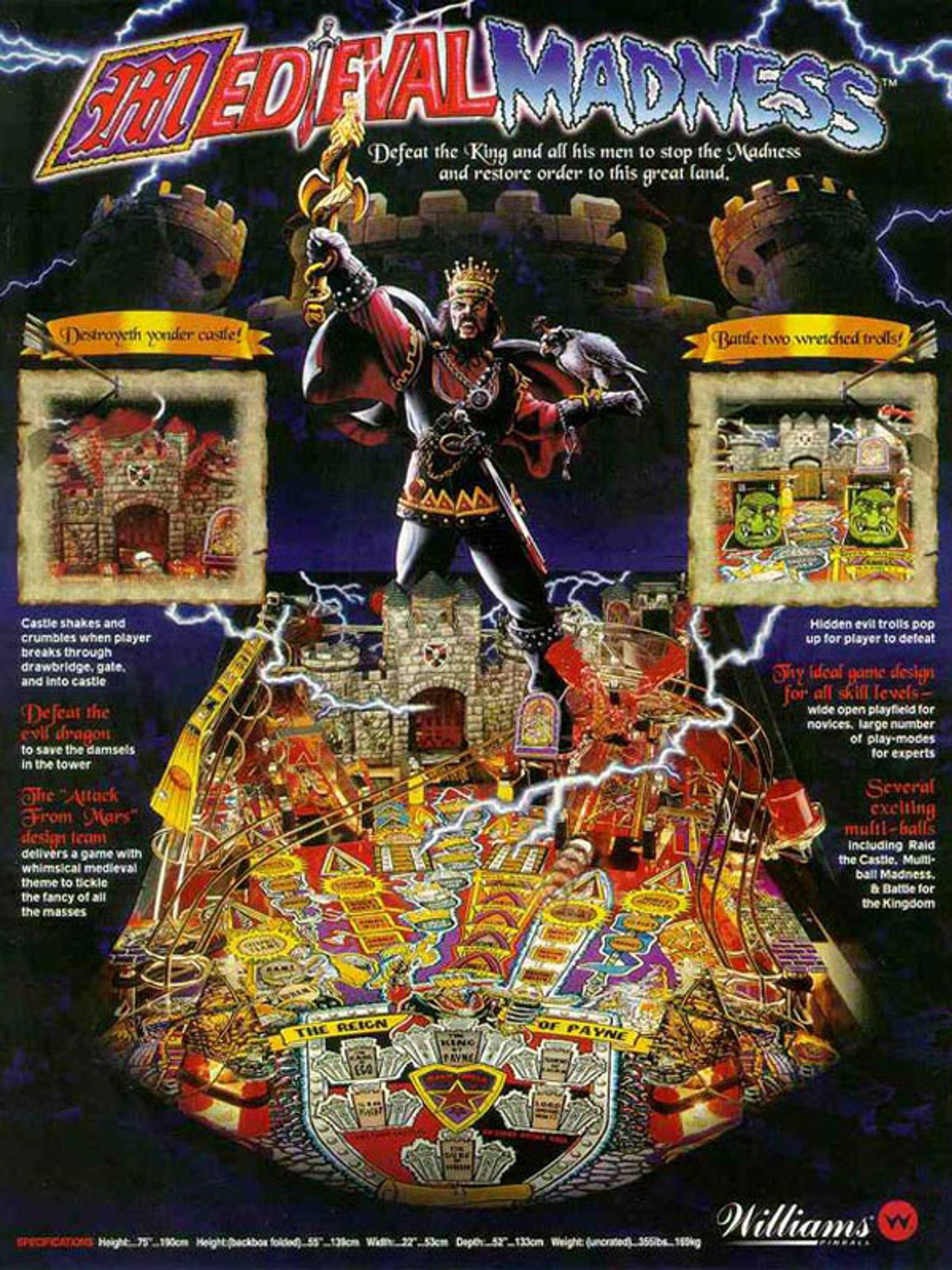 Medieval Madness Flyer Rückseite