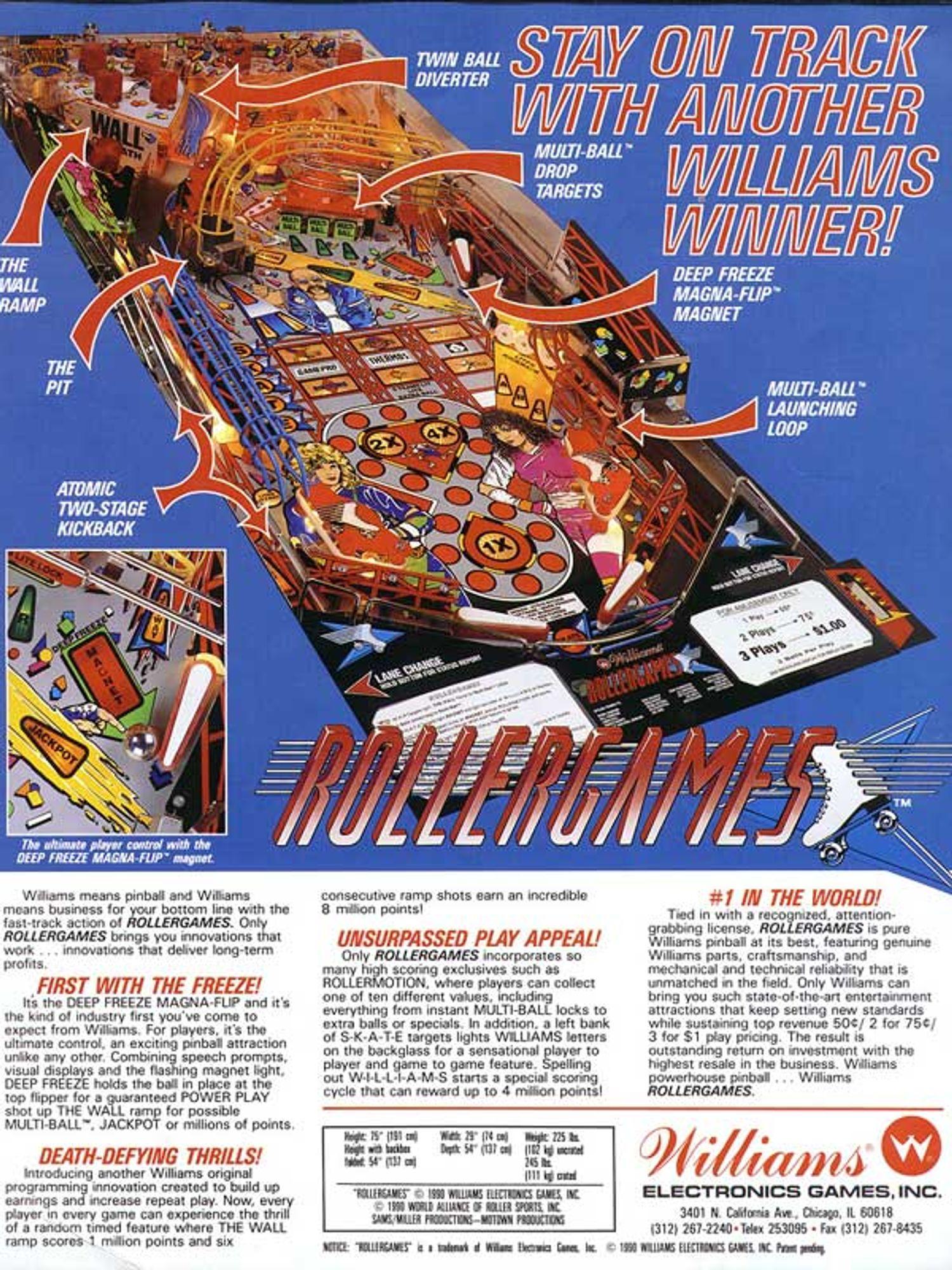 Rollergames Flyer Rückseite