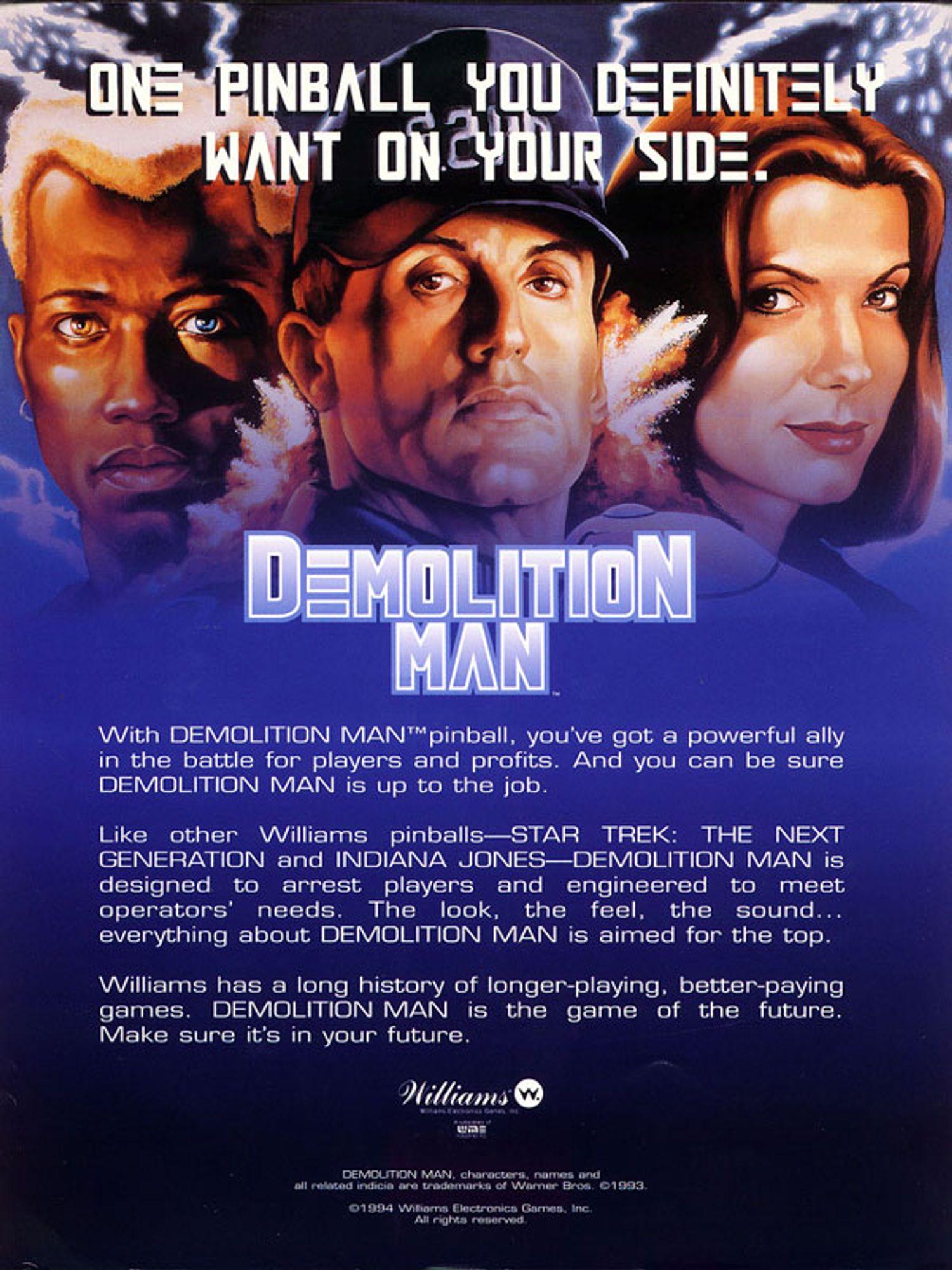 Demolition Man Flyer Seite 4