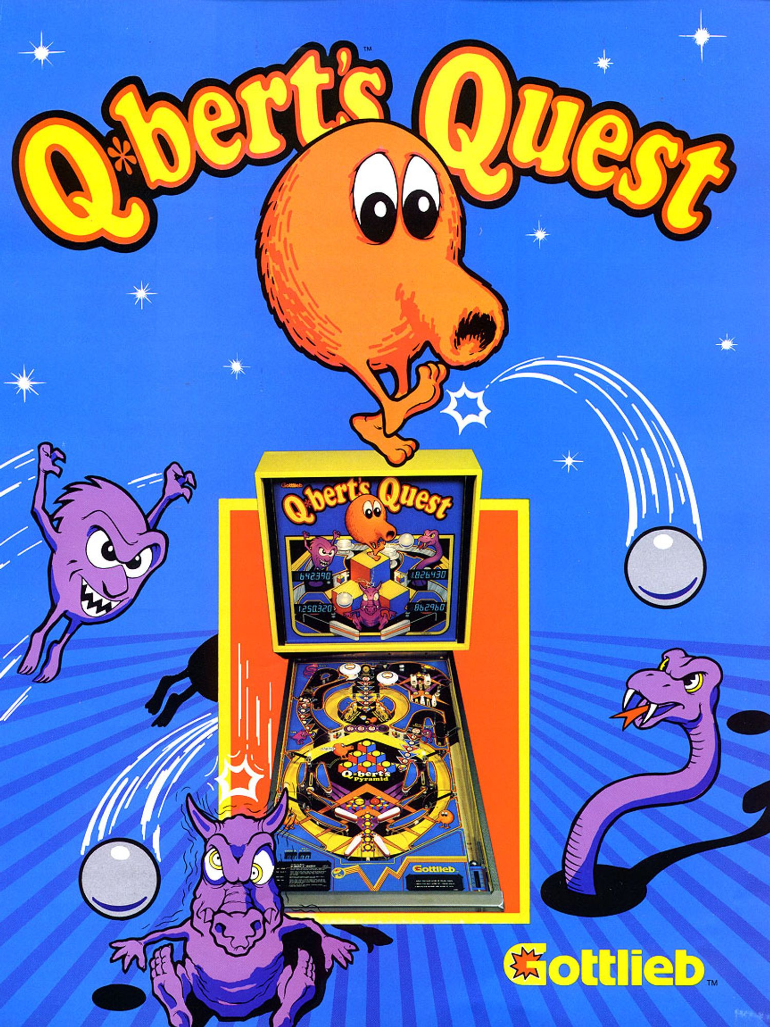 Q*Bert's Quest Flyer front