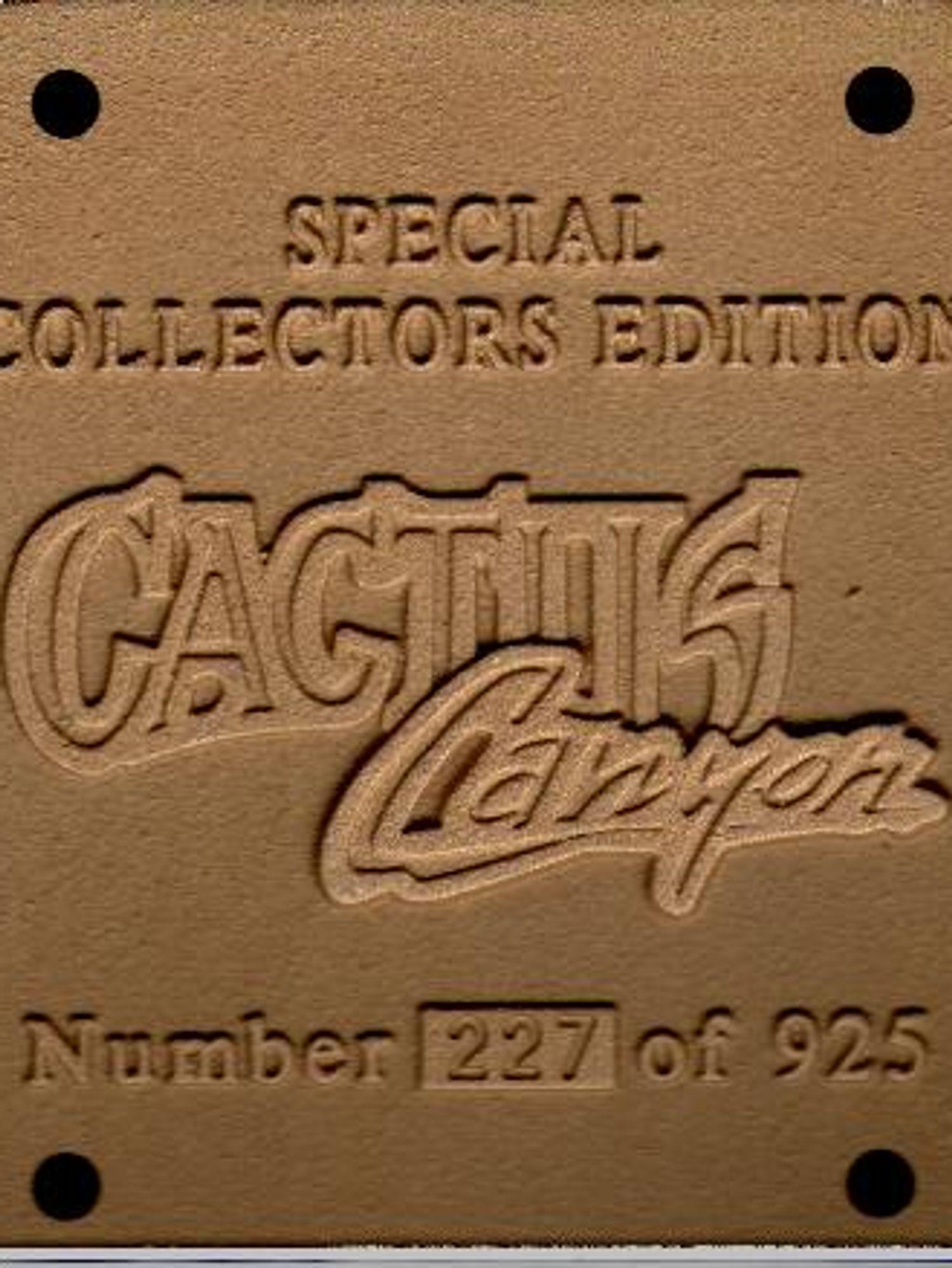 Cactus Canyon Collectors Plaque