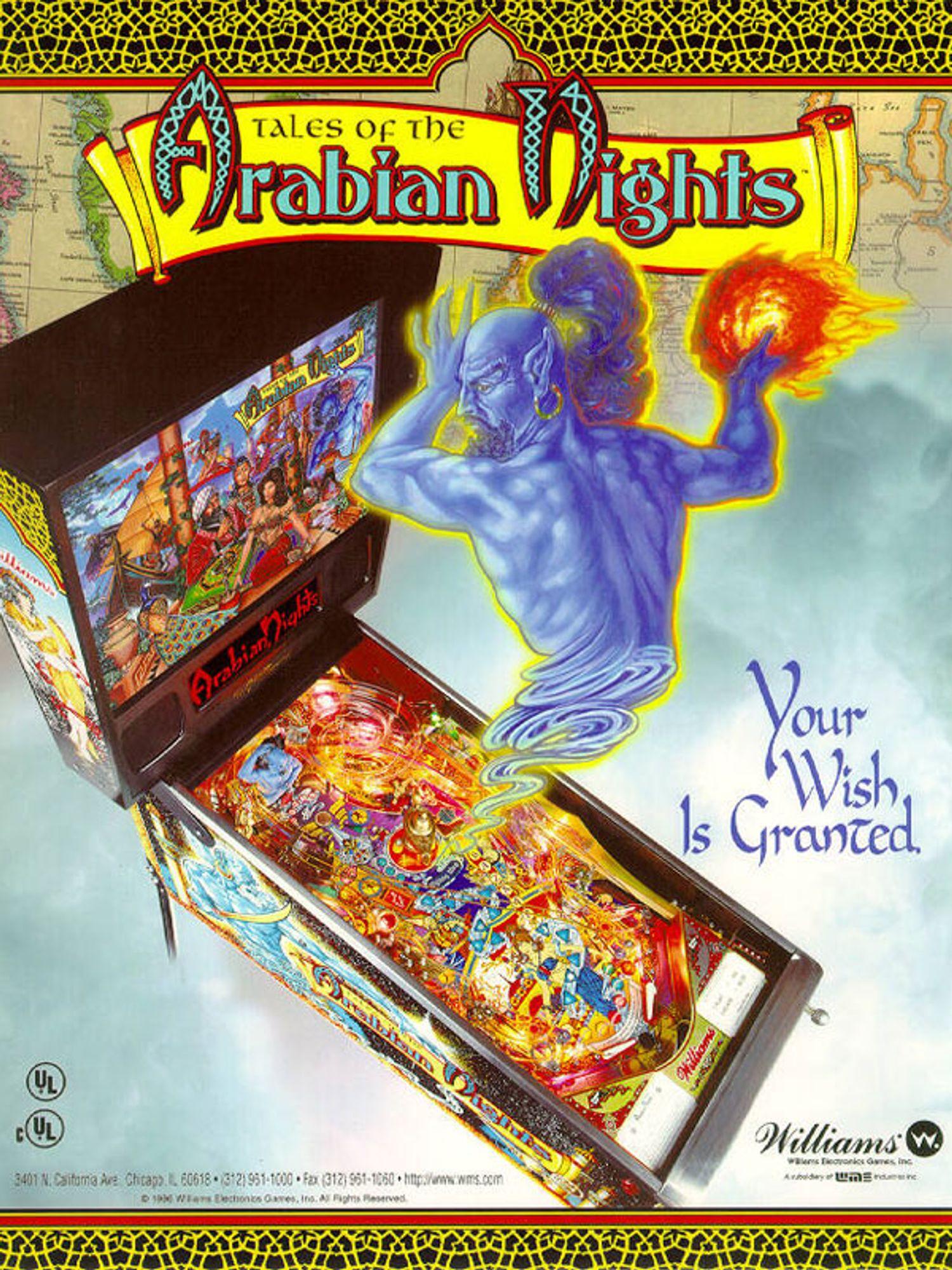 Tales of the Arabien Nights Flyer Vorderseite