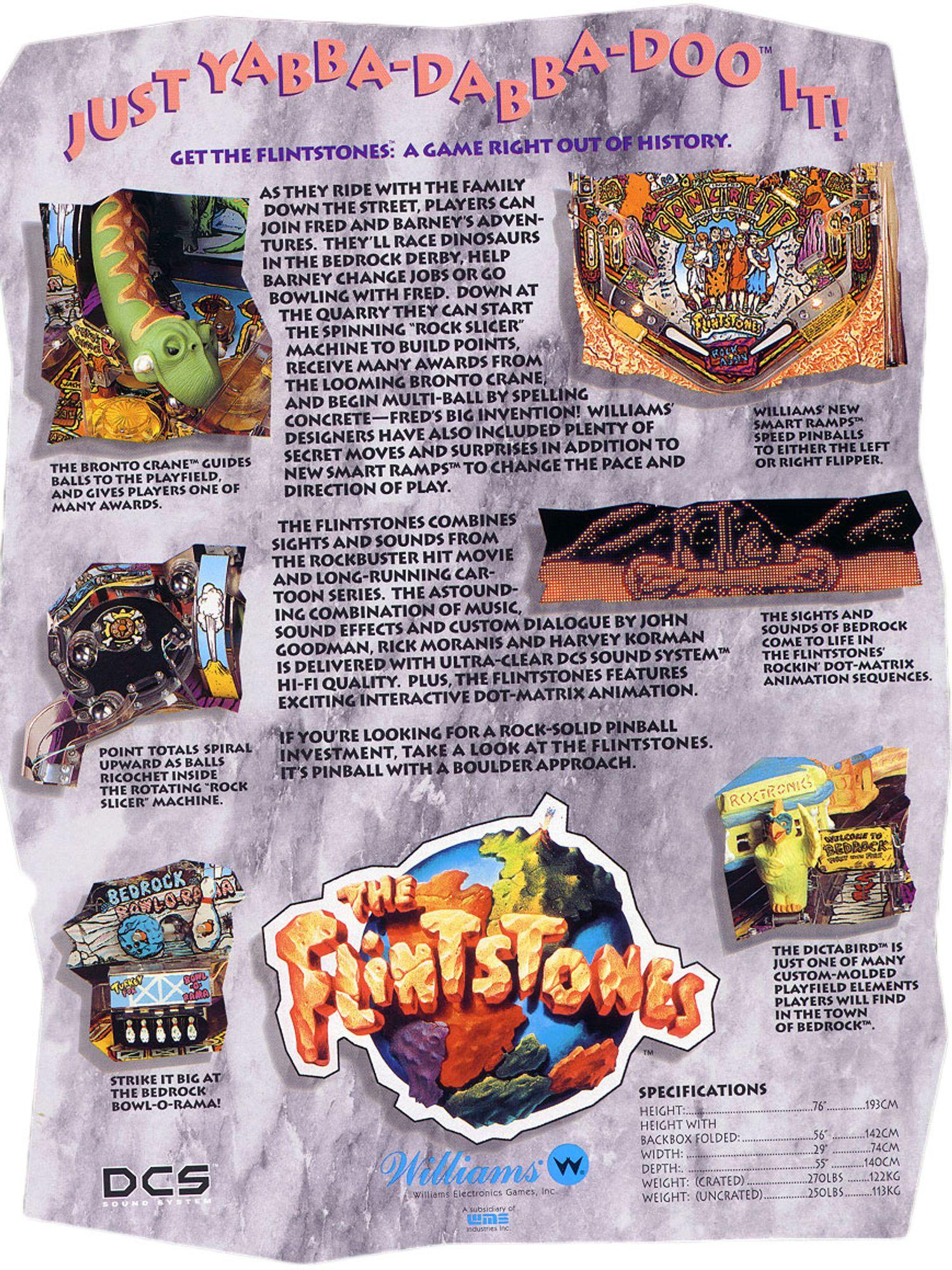 Flintstones Flyer Rückseite