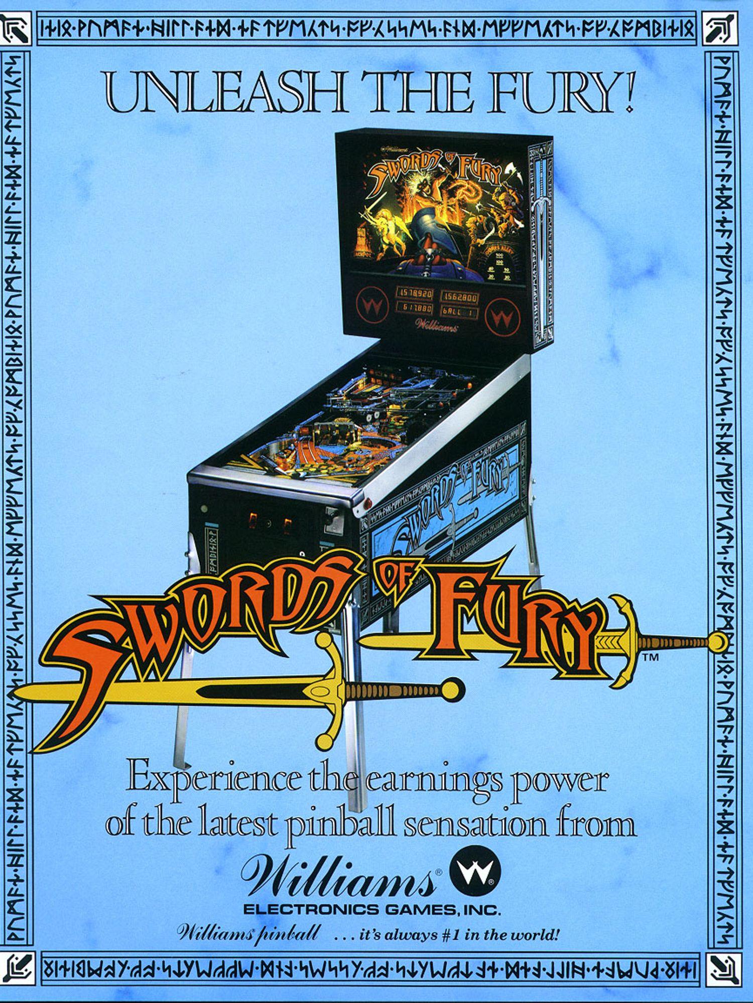 Swords of Fury Flyer Vorderseite
