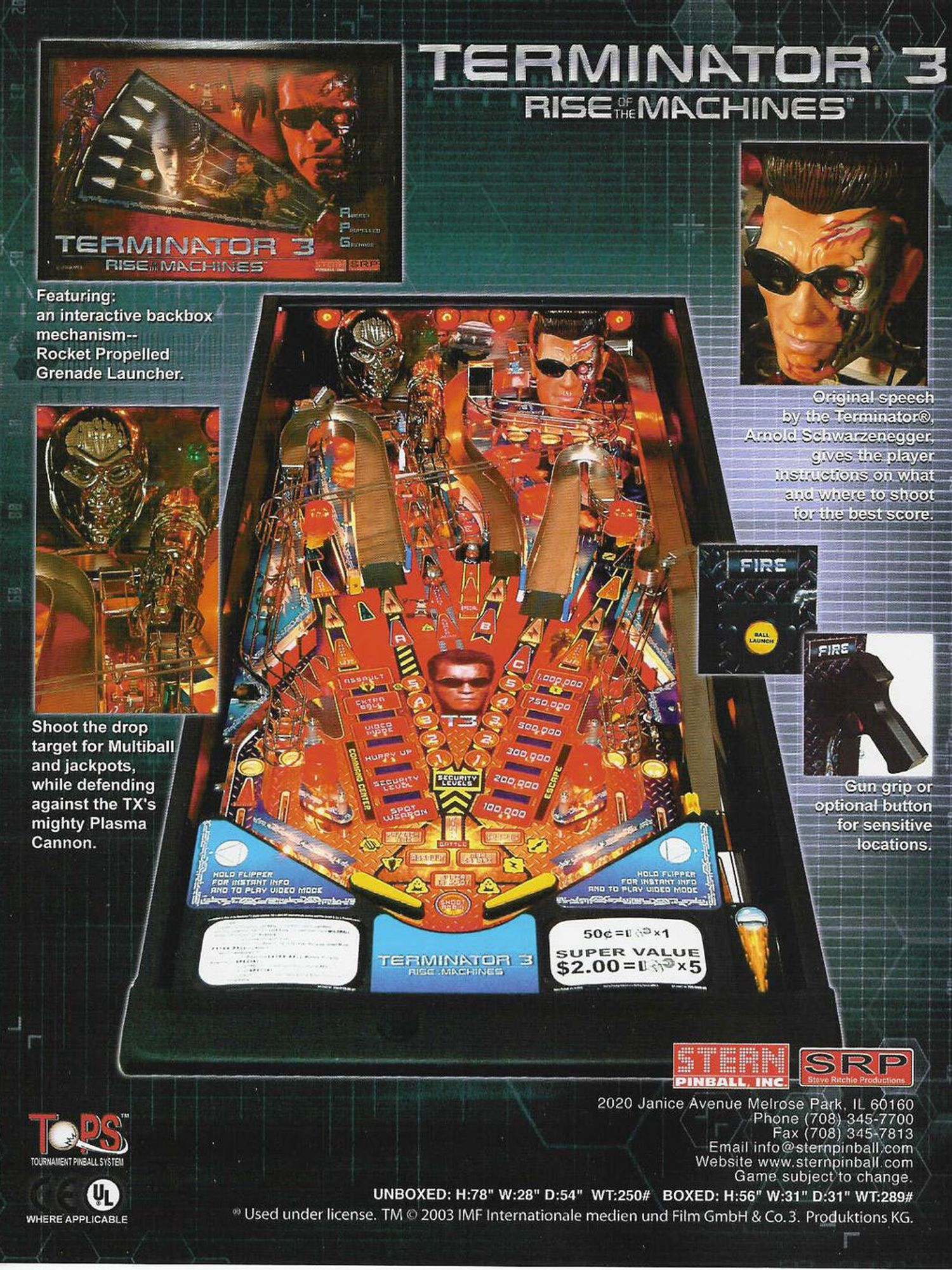 Terminator 3 Flyer Rückseite