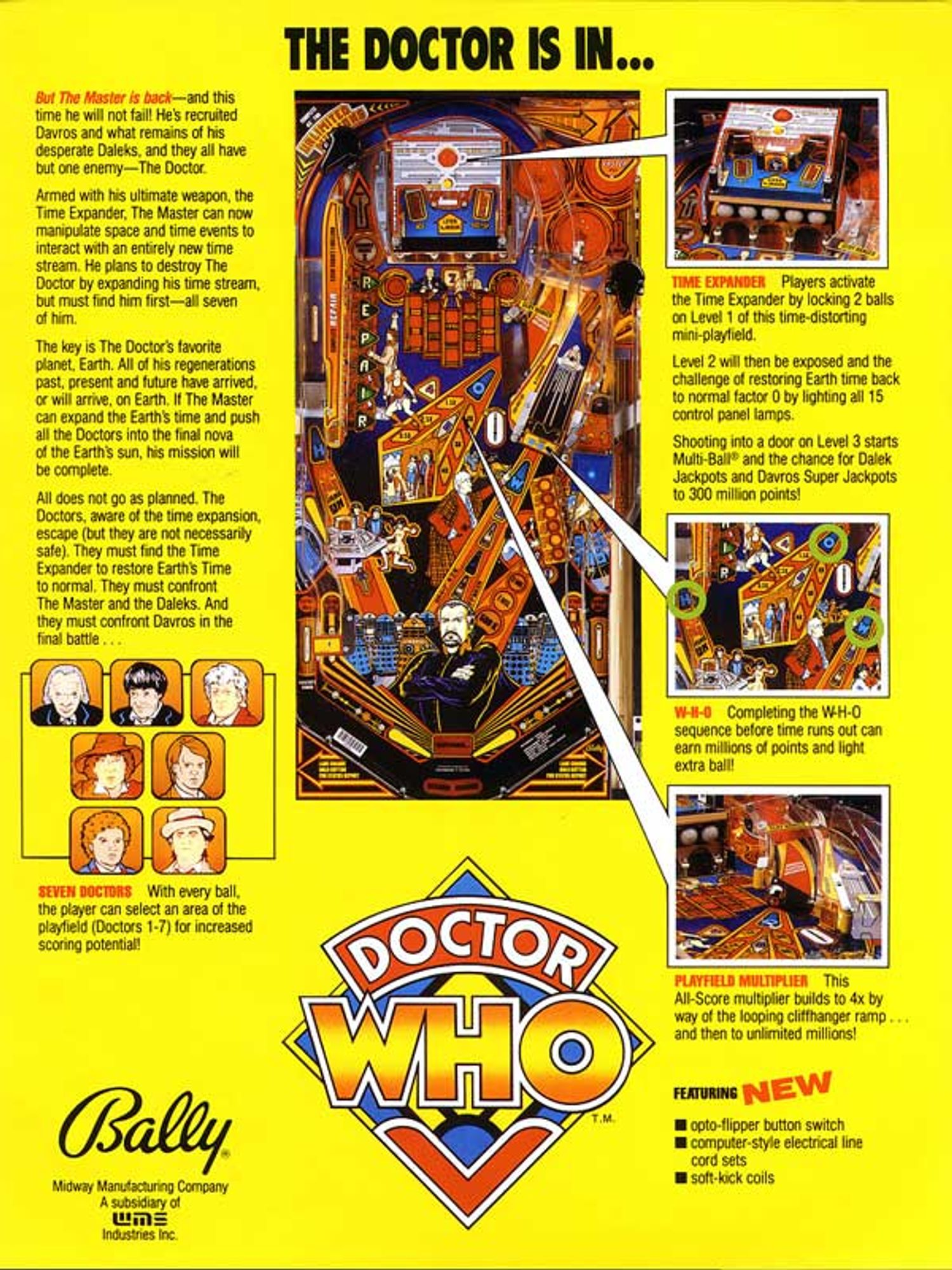 Doctor Who Flyer Rückseite