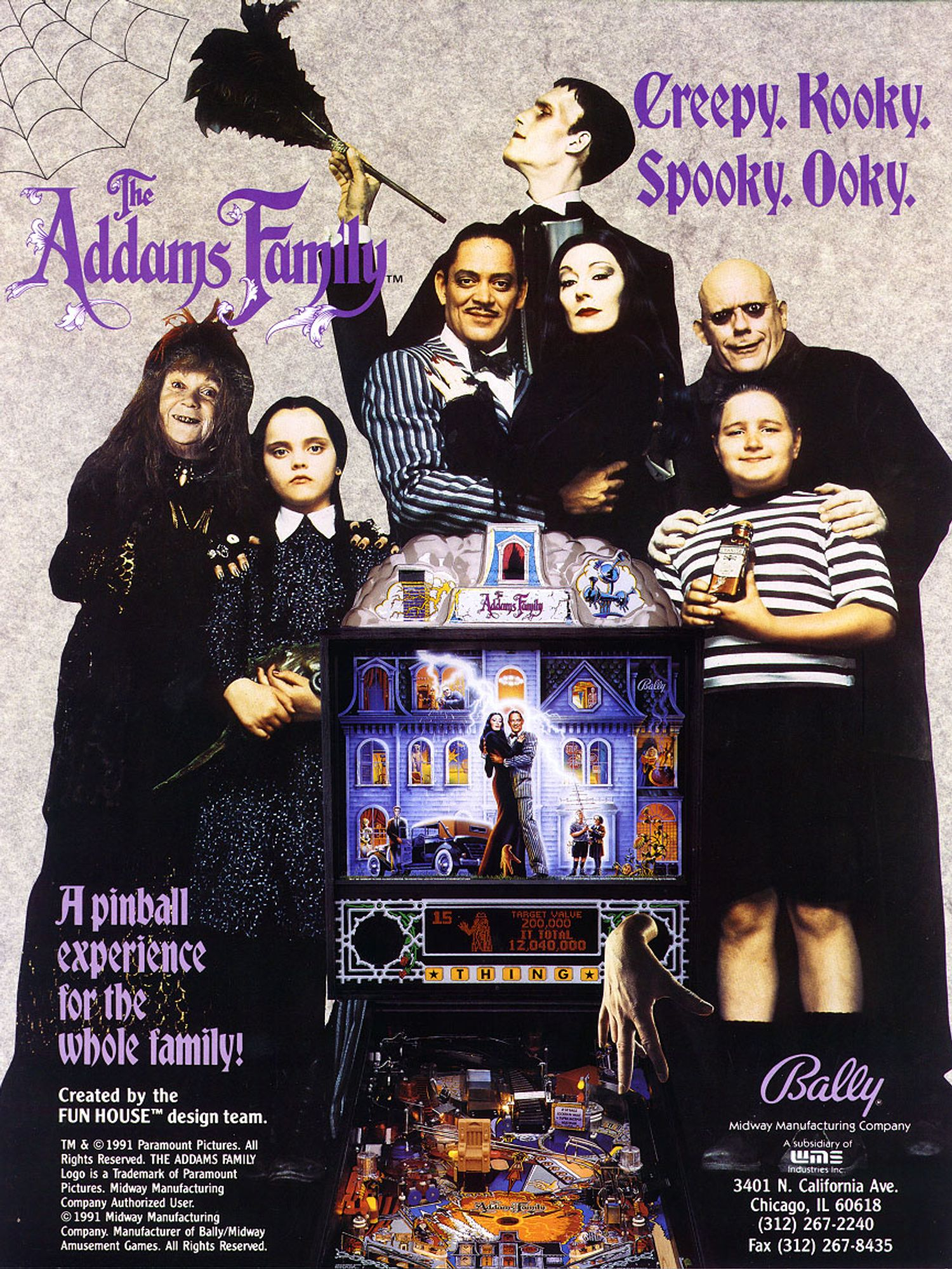 Addams Family Flyer Vorderseite
