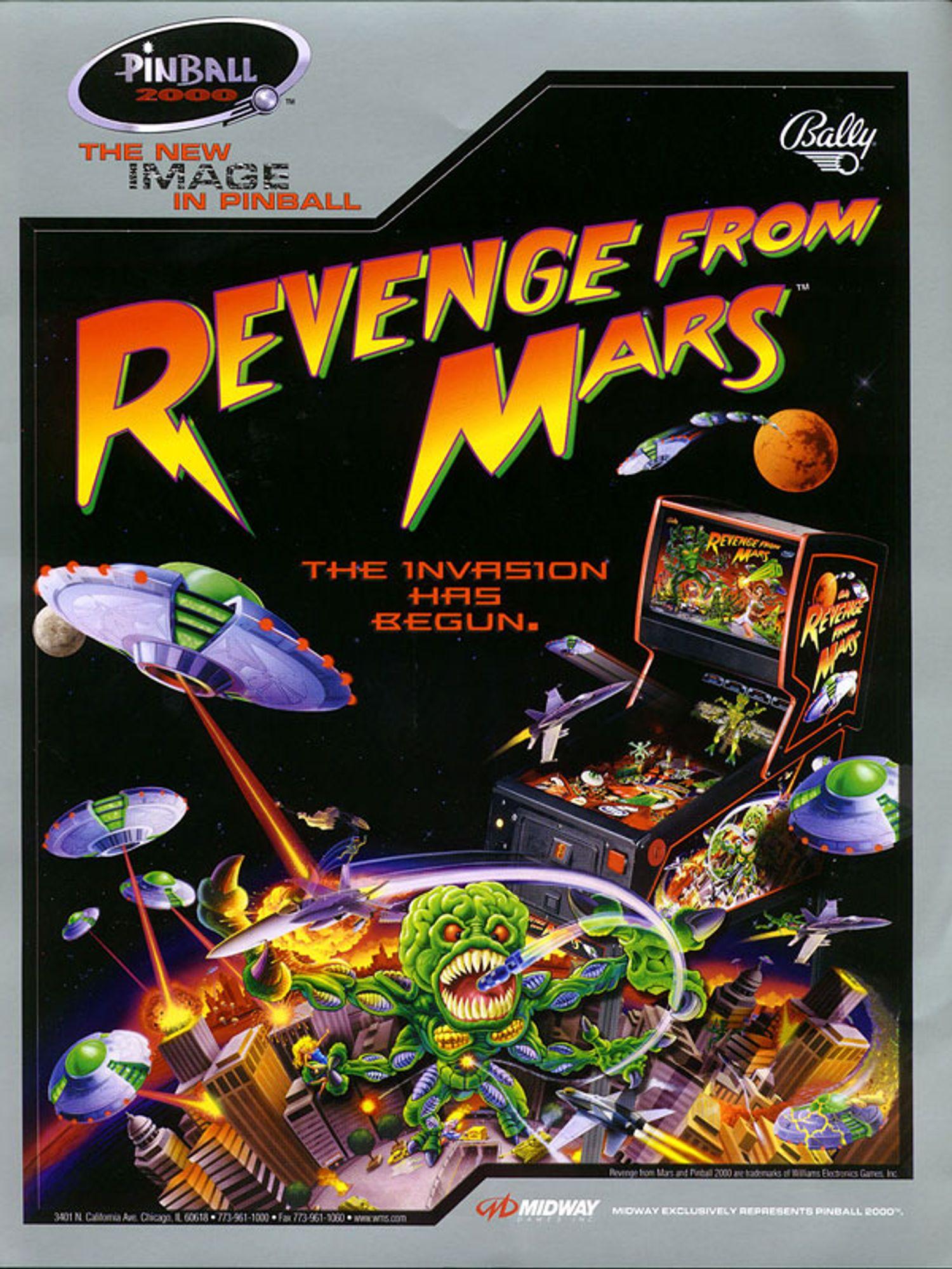 Revenge from Mars Flyer Seite 1