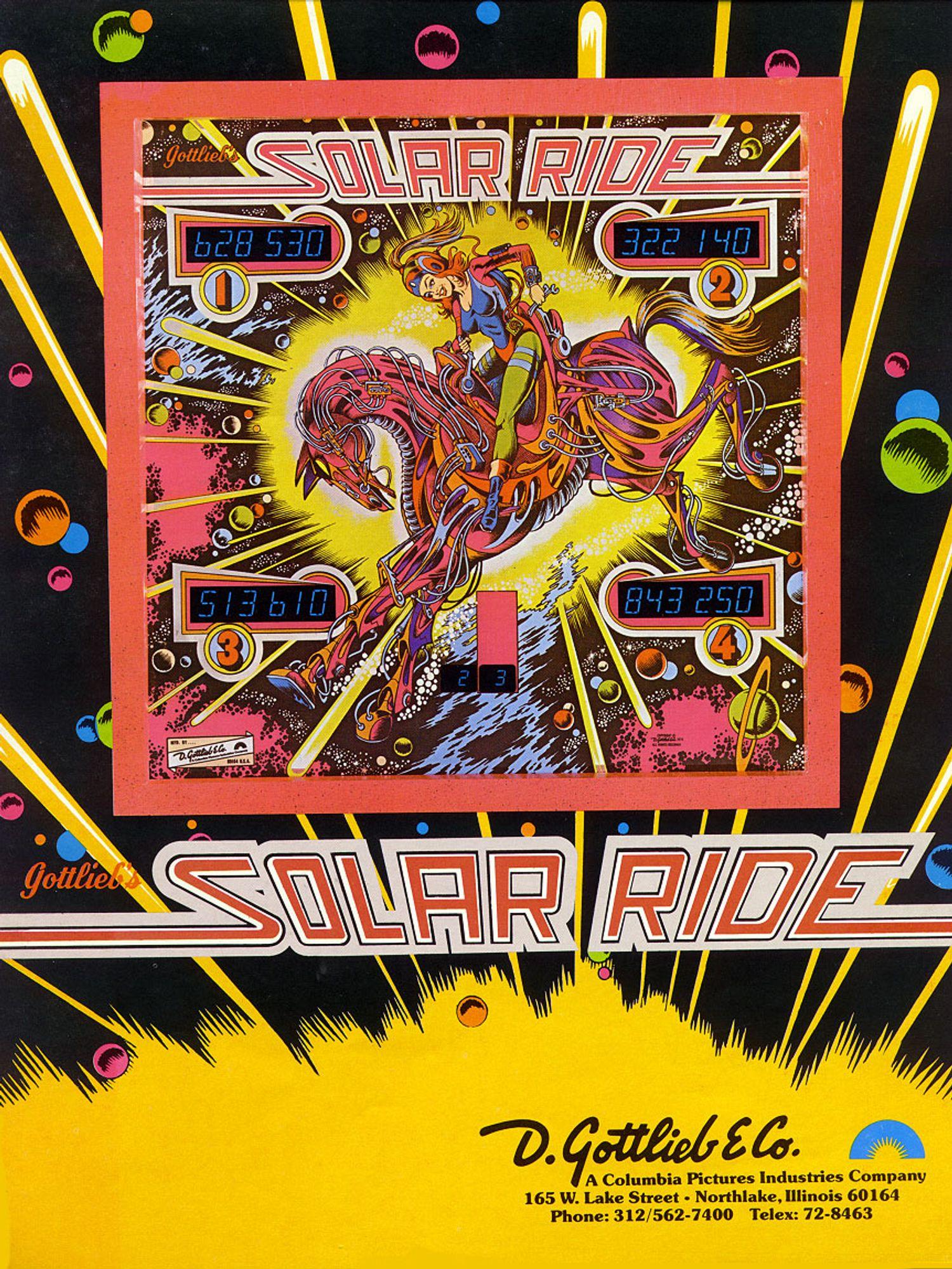 Solar Ride Flyer front