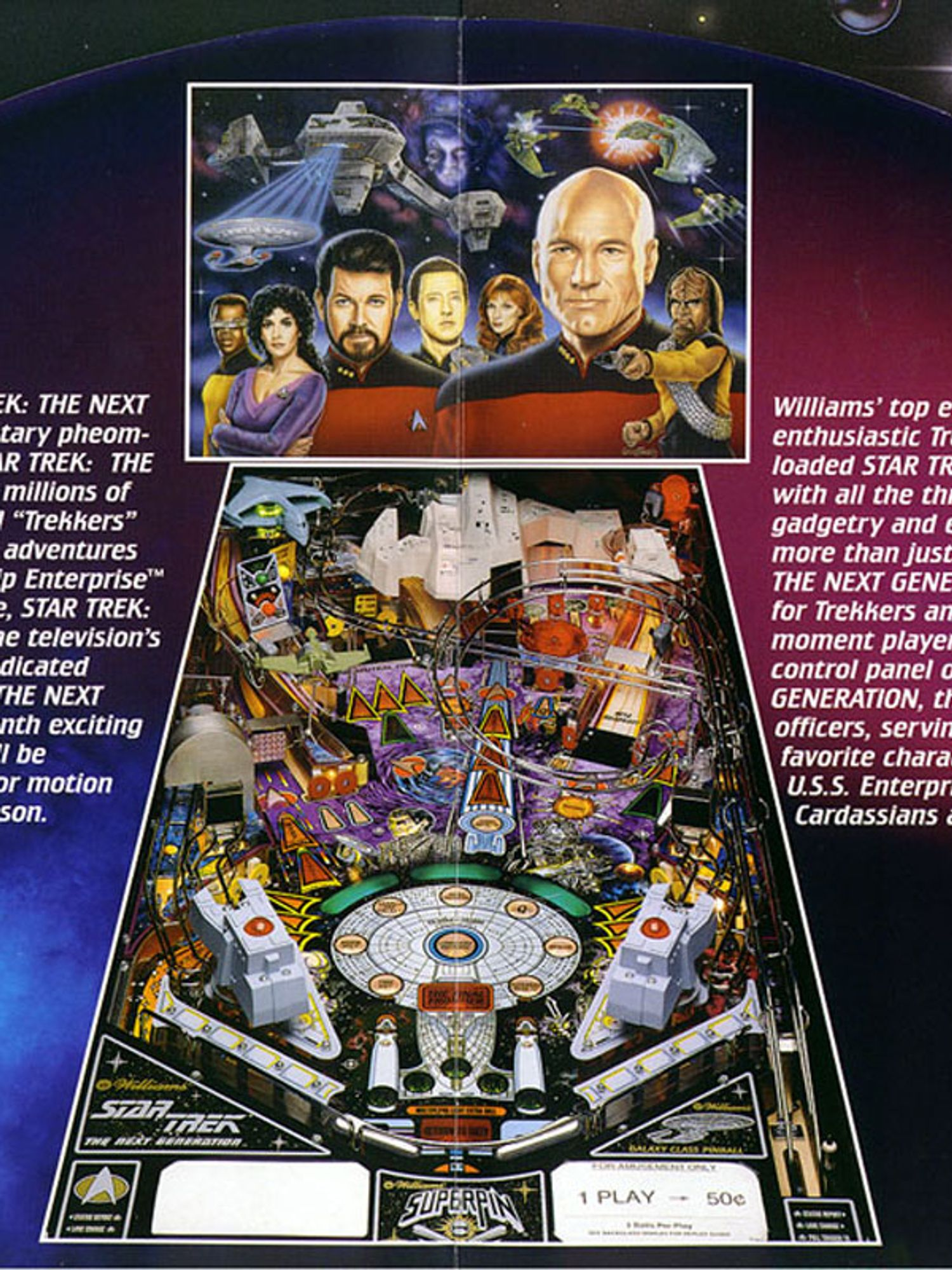 Star Trek next Generation Flyer Seite 2+3