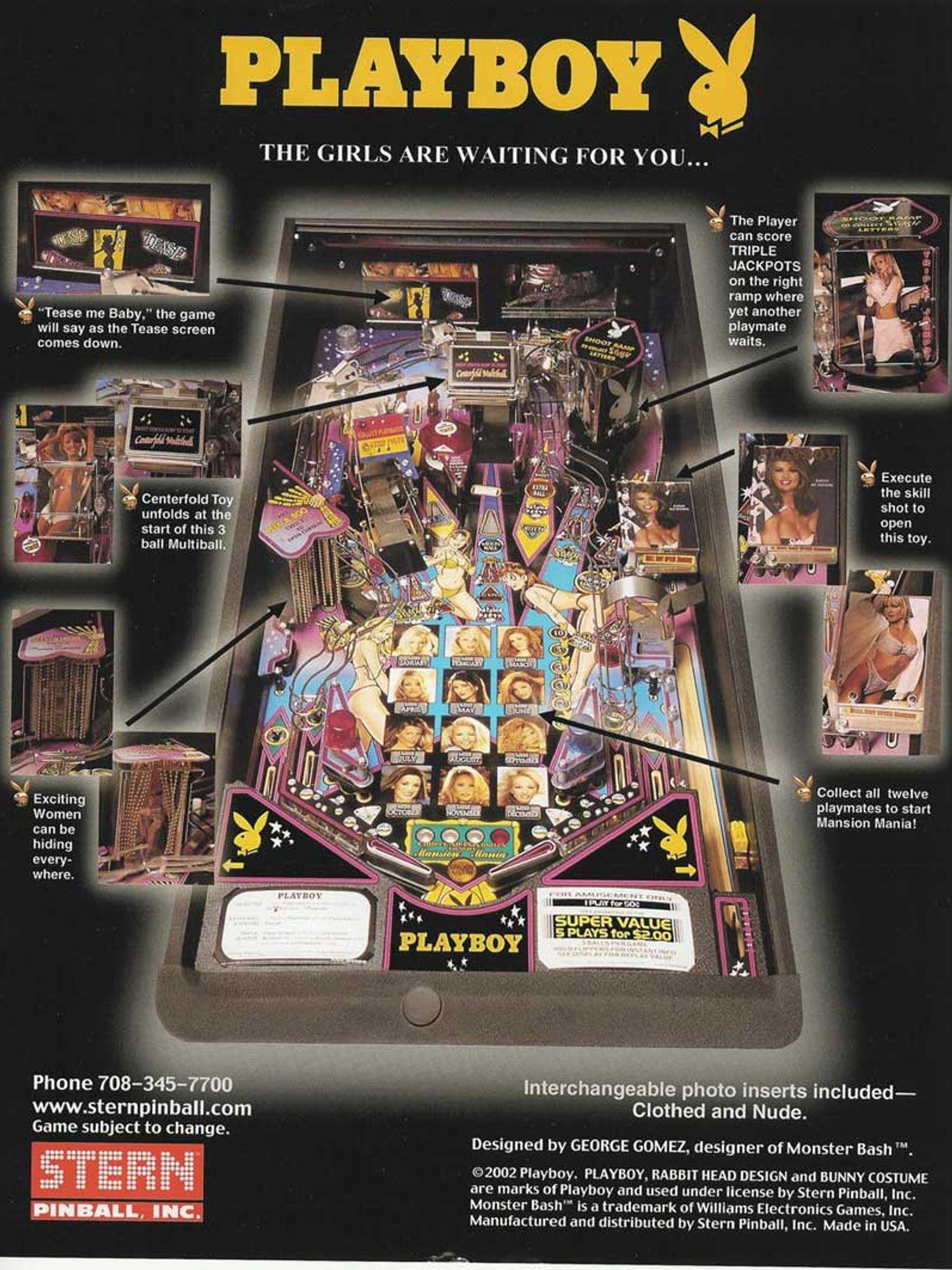 Playboy Flyer Rückseite