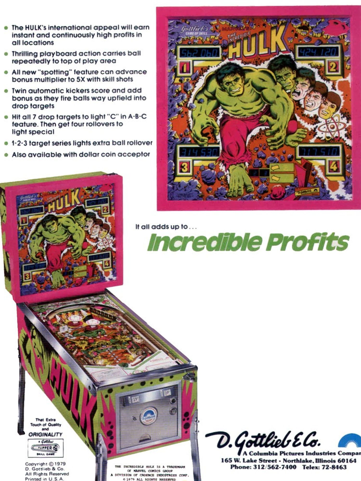 The Incredible Hulk Flyer back