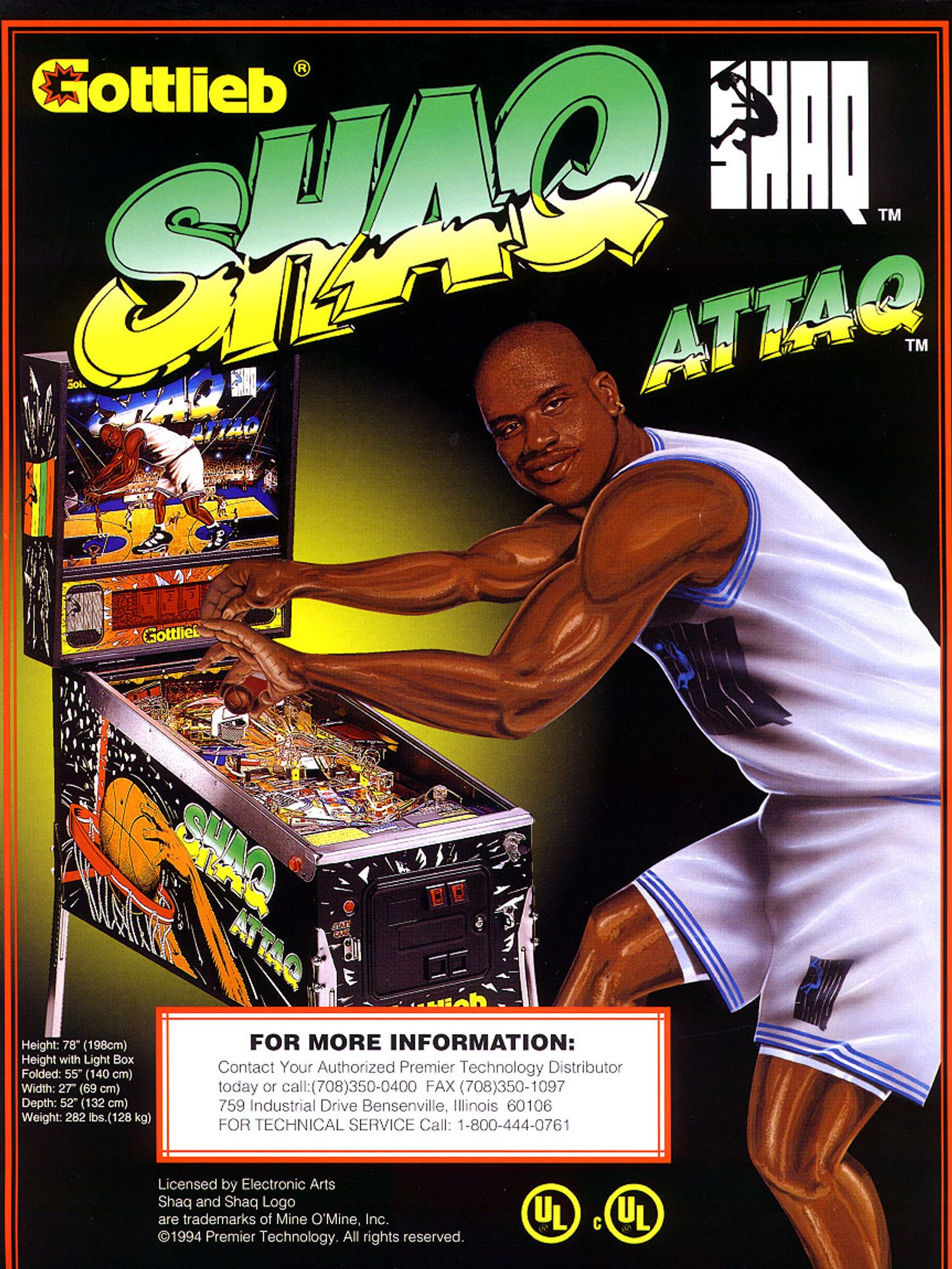 Shaq Attaq Flyer front