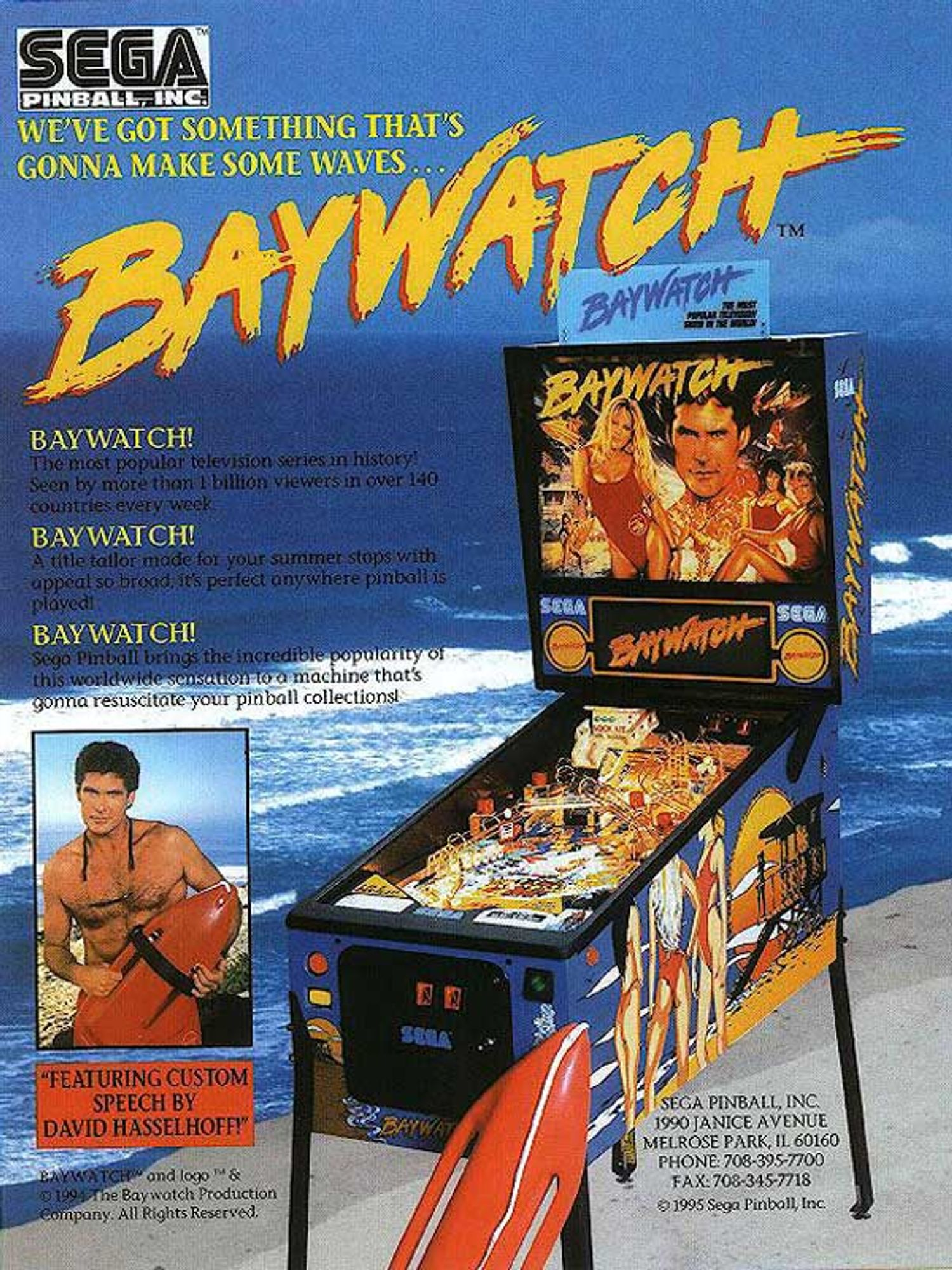 Baywatch Flyer Vorderseite