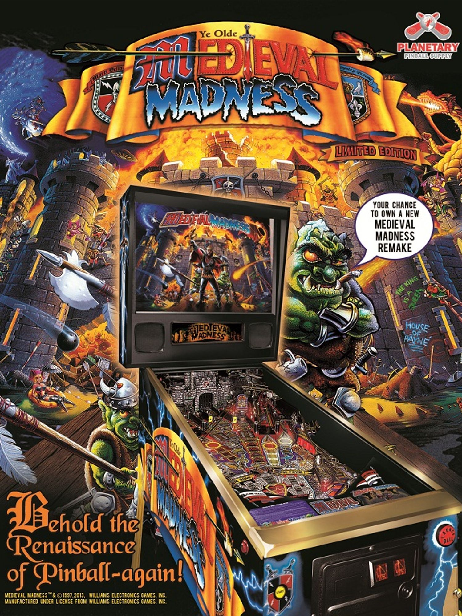 Medieval Madness LE Flyer Vorderseite