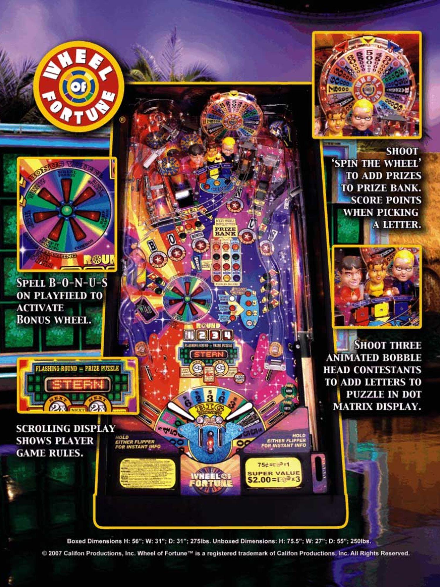 Wheel of Fortune Flyer Rückseite