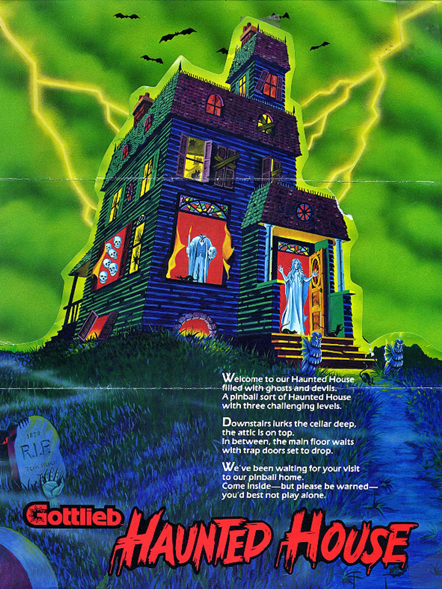 Haunted House Flyer front
