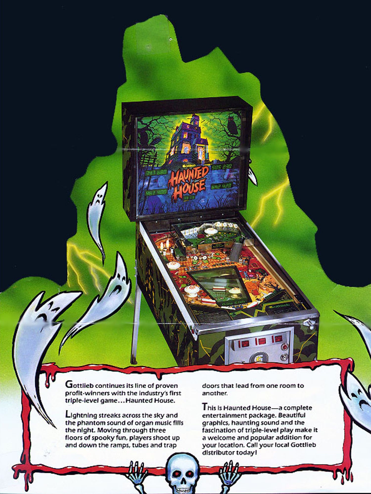 Haunted House Flyer Back
