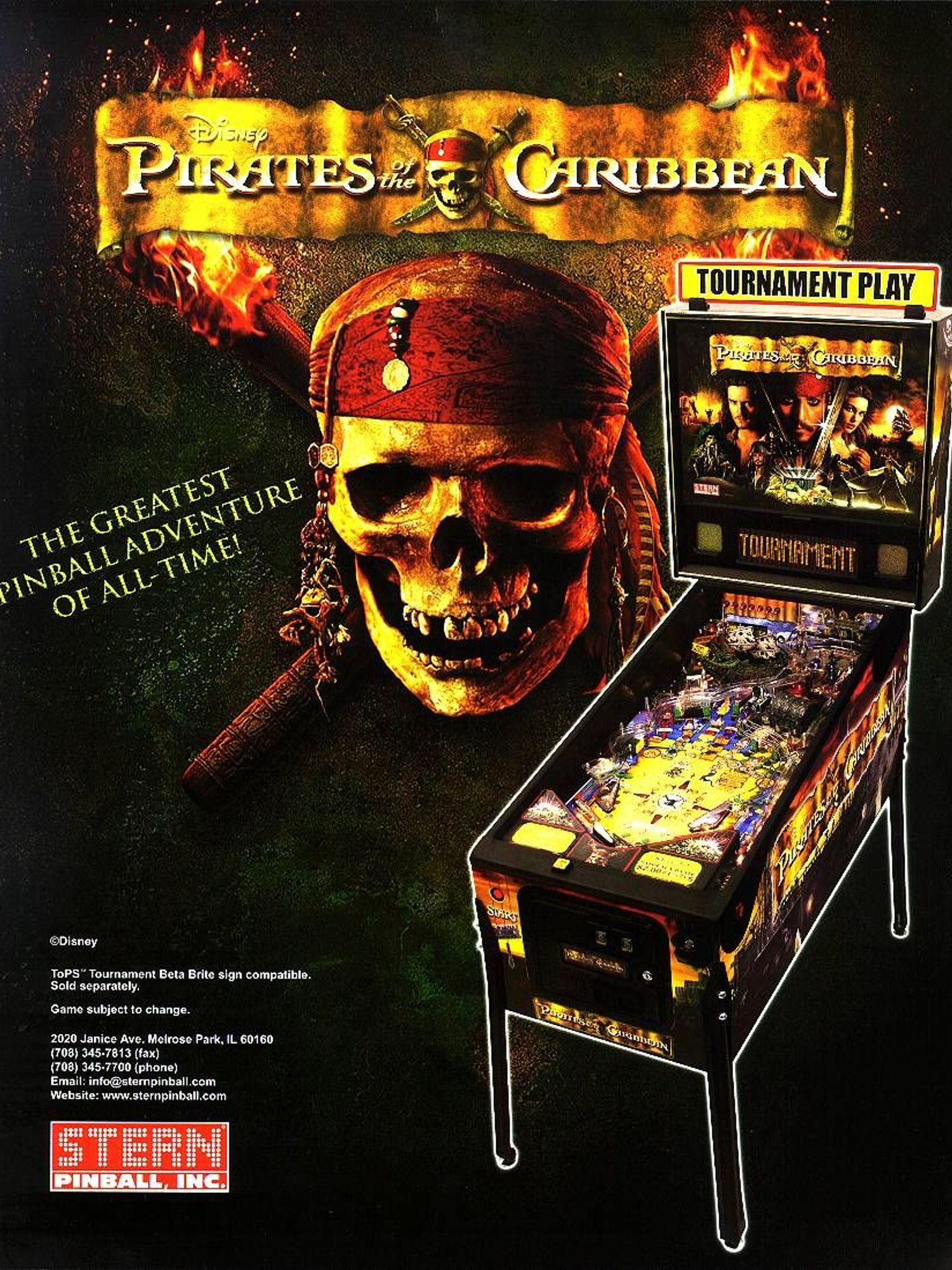 Pirates of the Caribbean Flyer Vorderseite