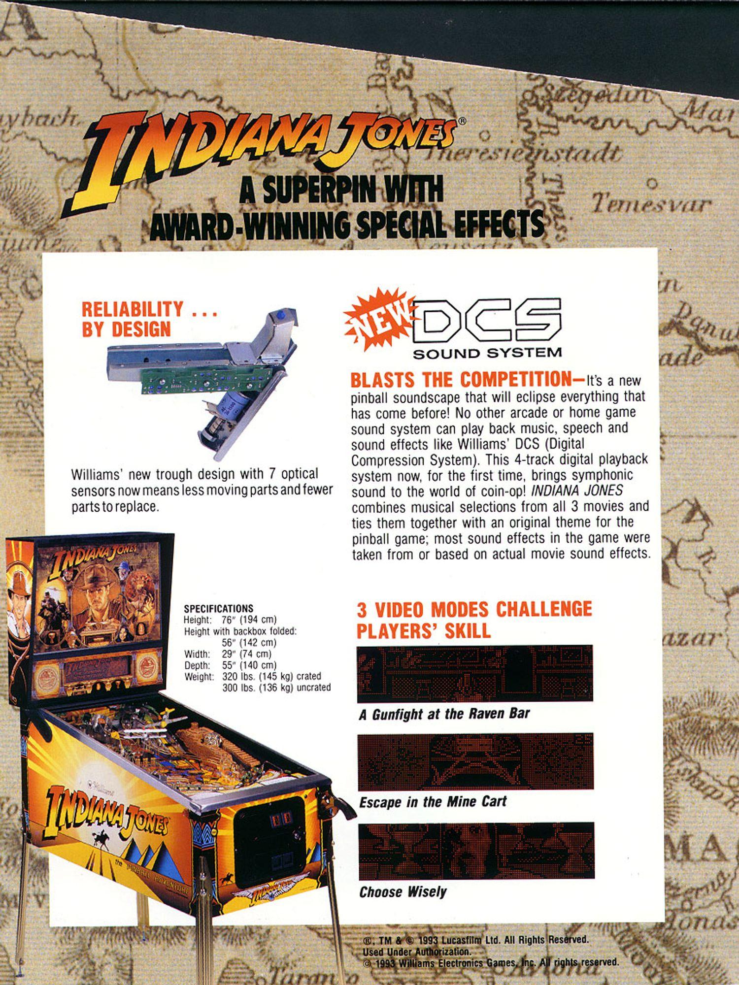Indiana Jones Flyer Rückseite