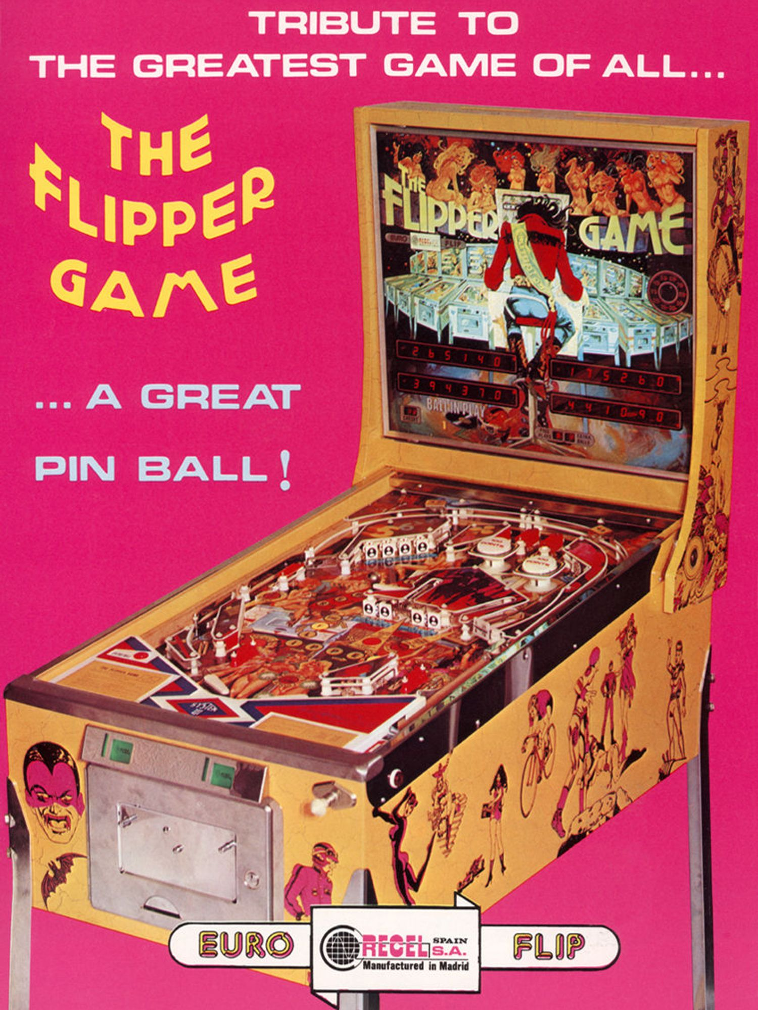 The Flipper Game Flyer front