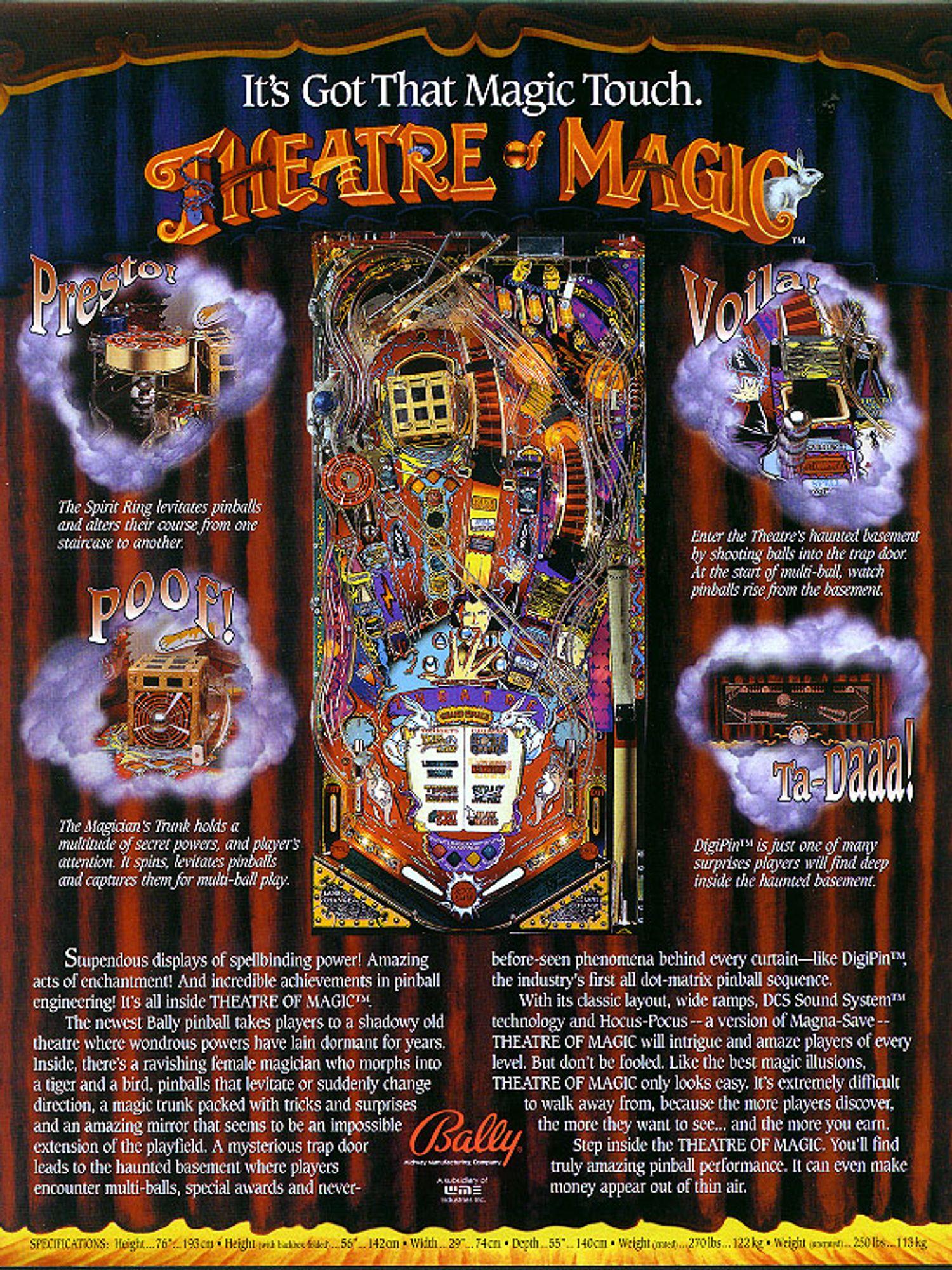 Theatre of Magic Flyer Rückseite
