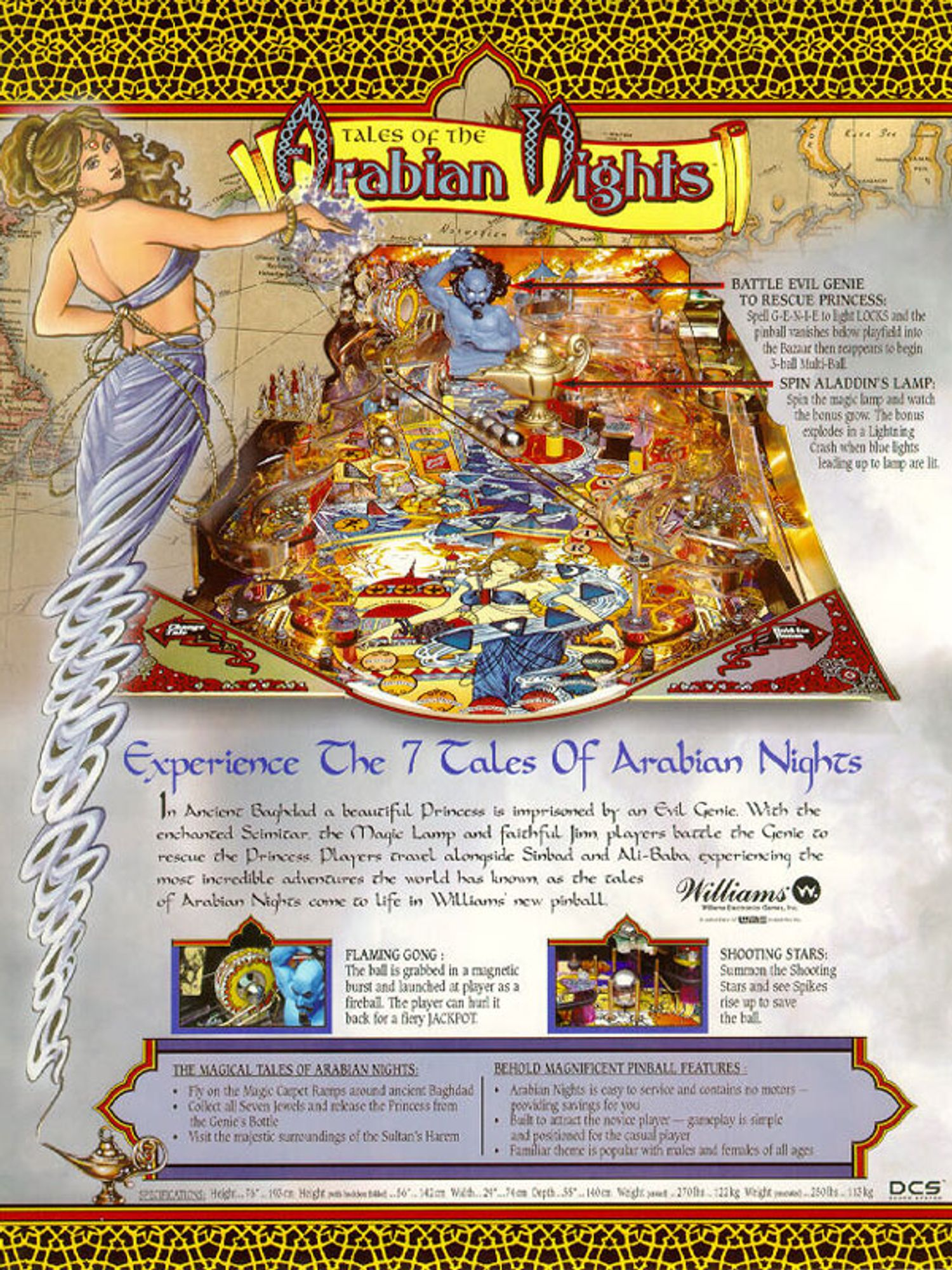 Tales of the Arabien Nights Flyer Rückseite