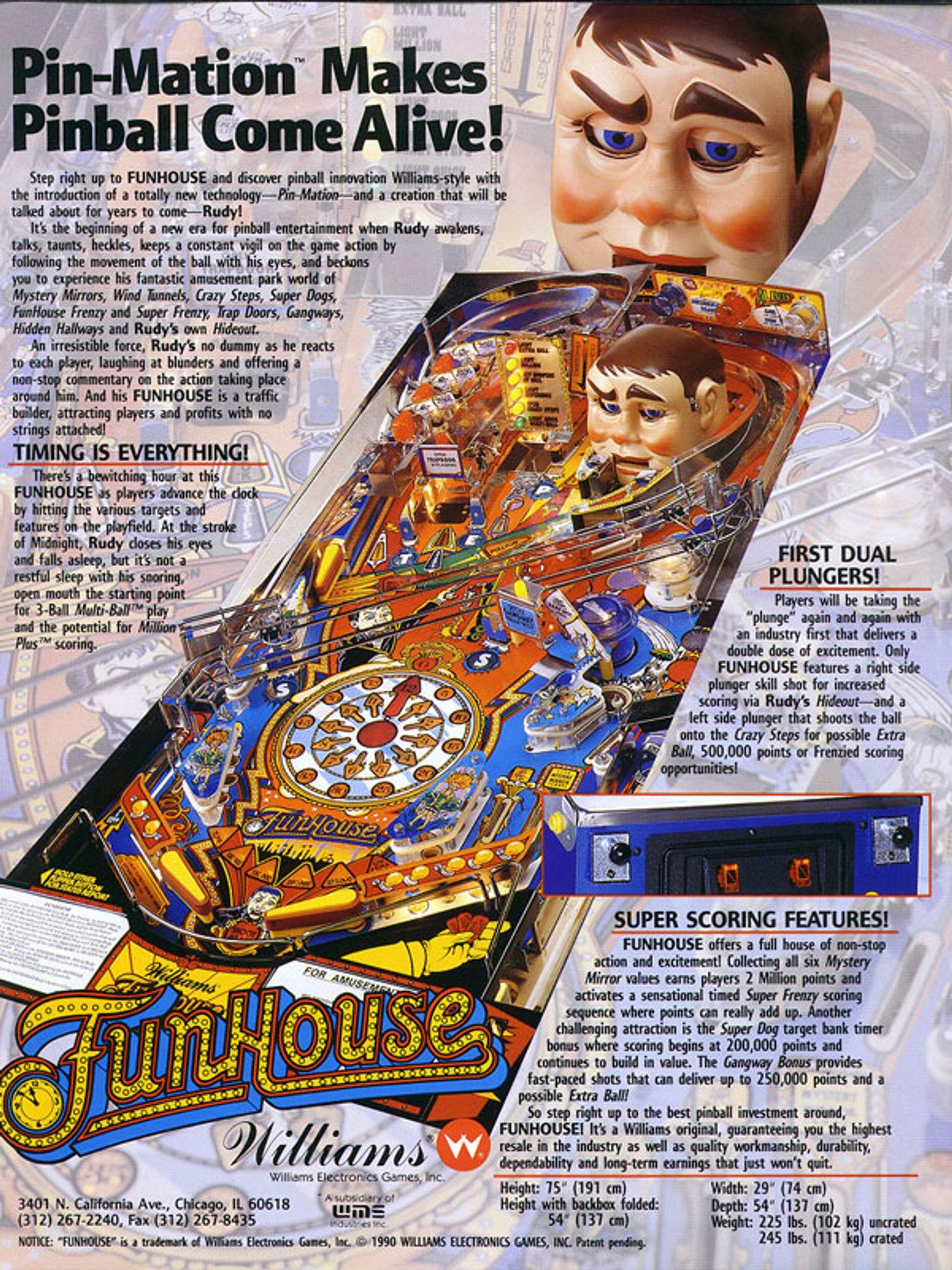 Funhouse Flyer Rückseite